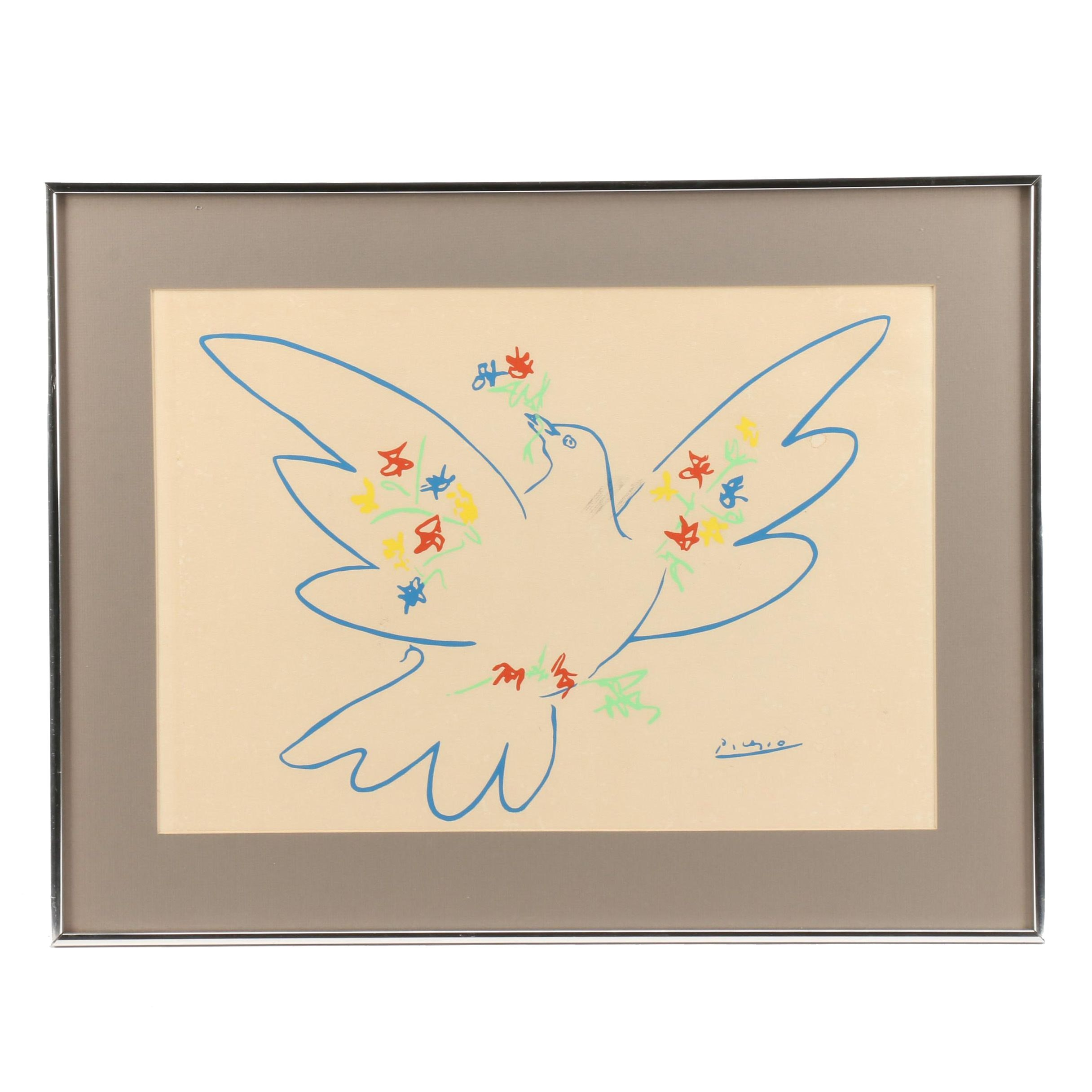 """Lithograph after Pablo Picasso """"Dove of Peace"""""""