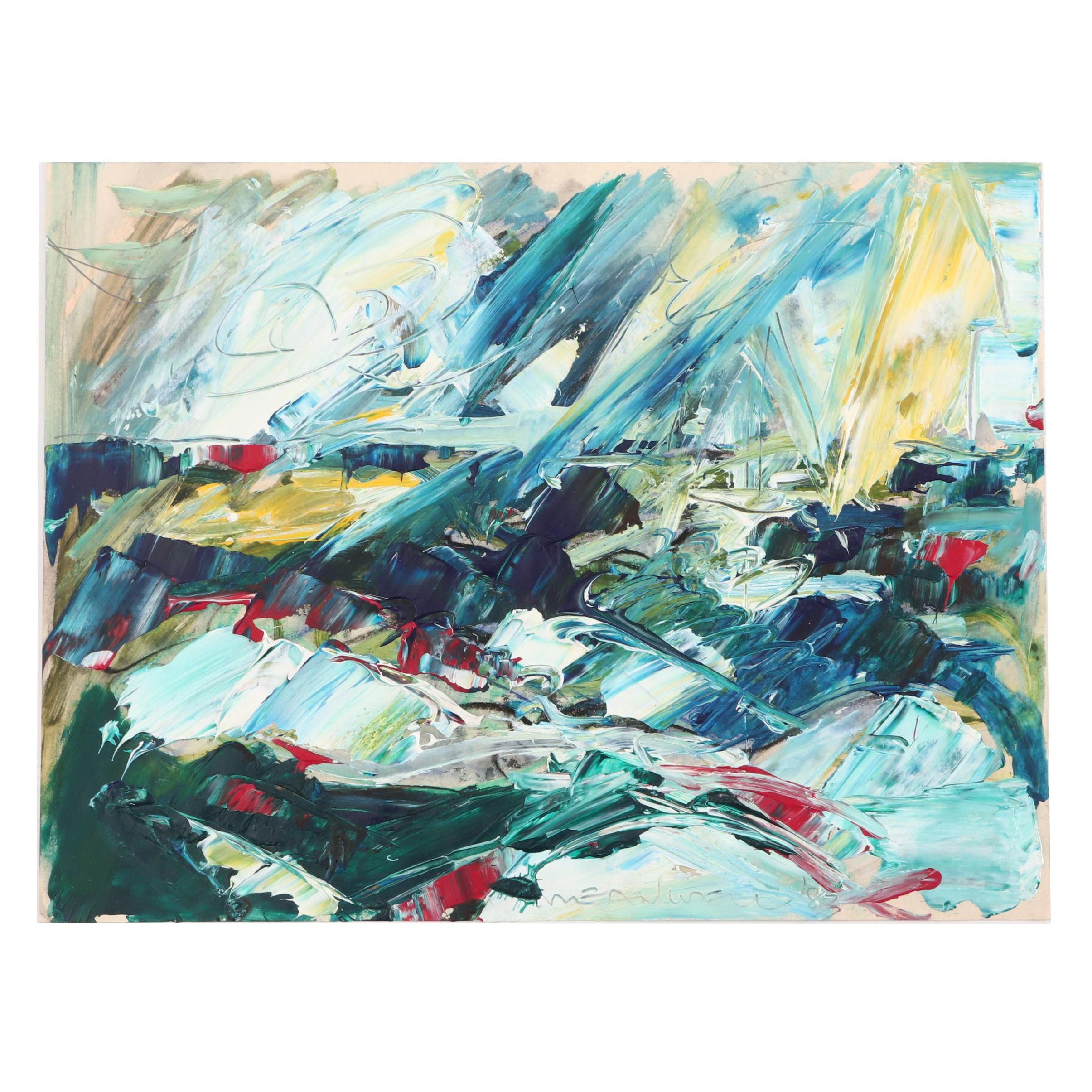 Jack Meanwell Abstract Acrylic Painting