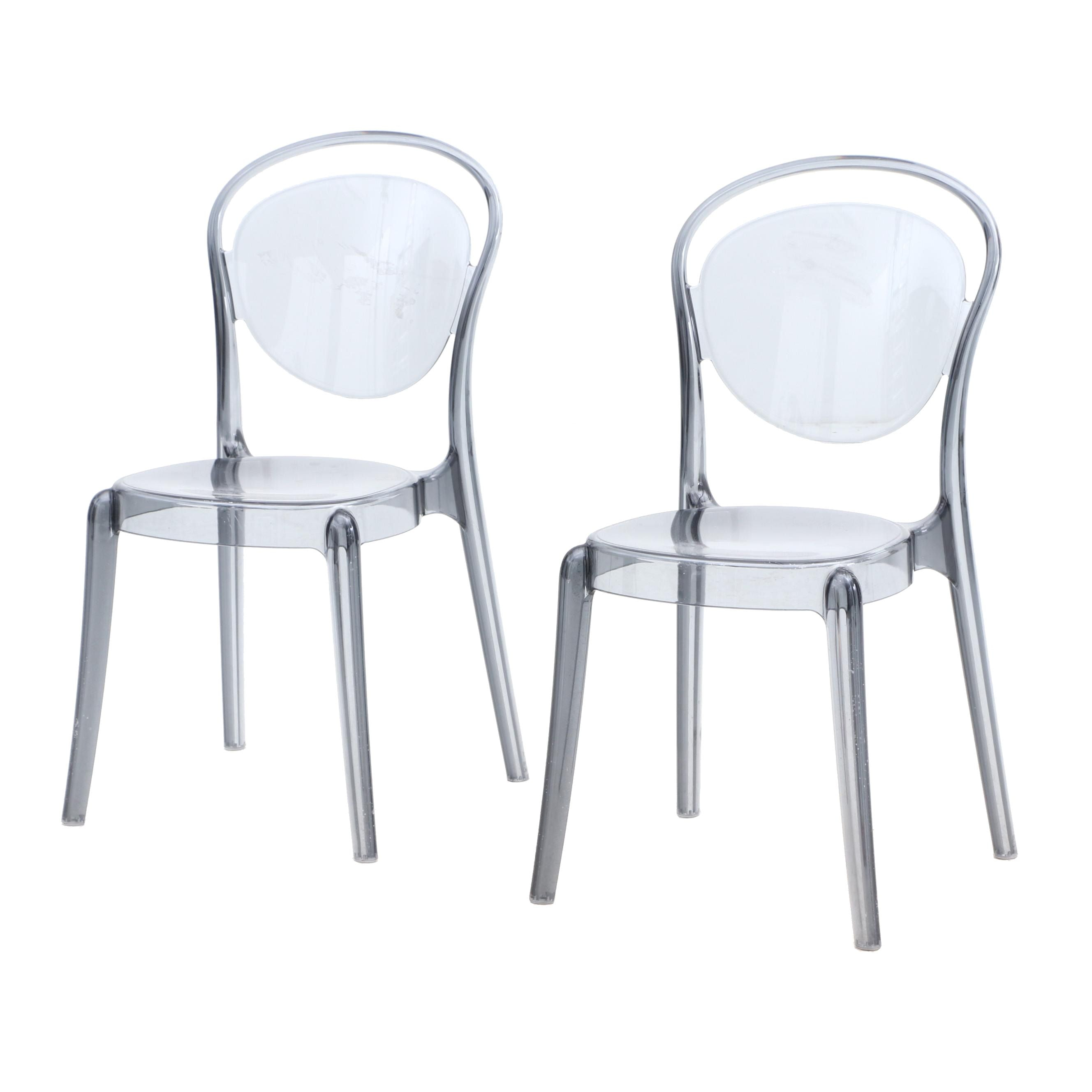 Calligaris Parisienne Style Acrylic Patio Dining Chair