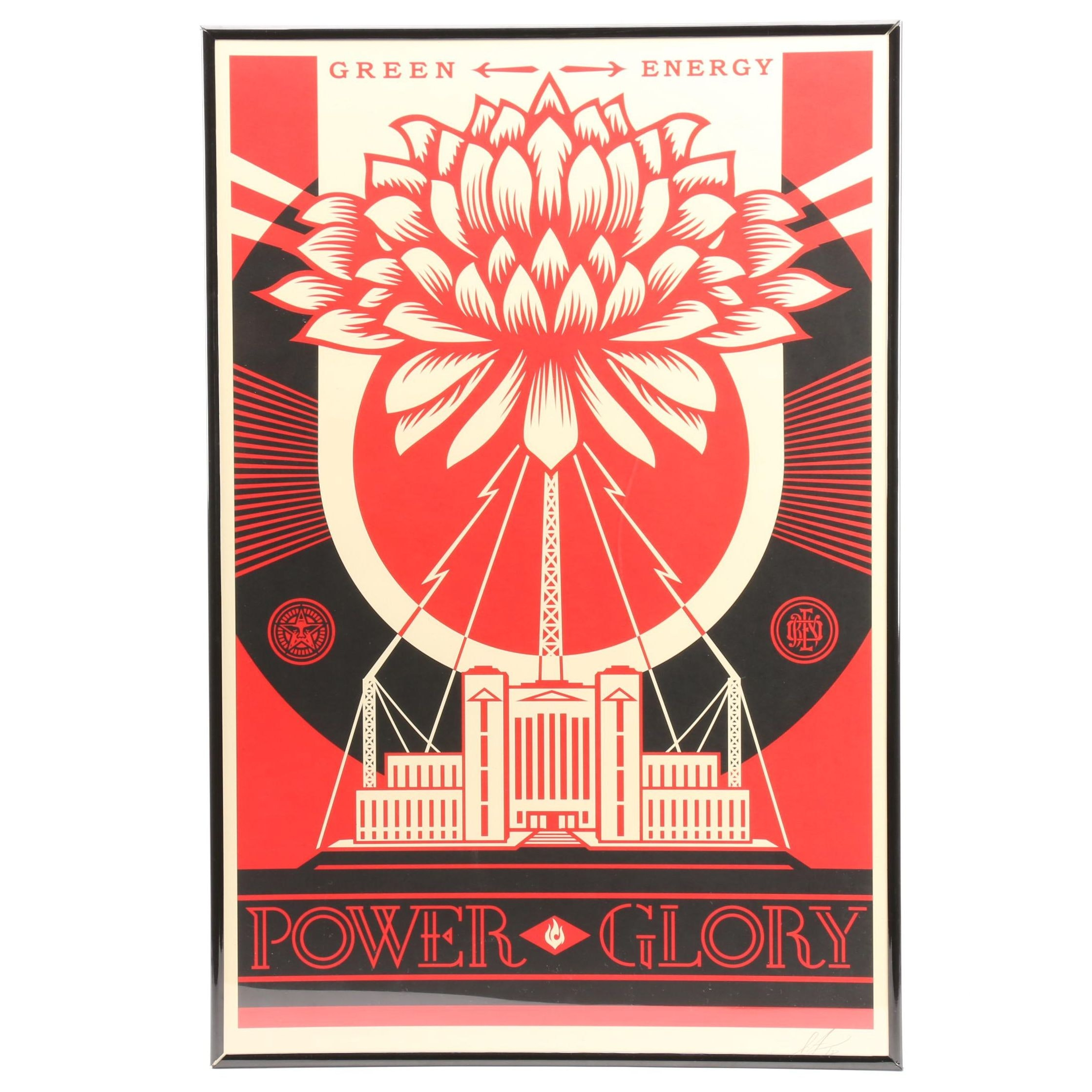 "Shepard Fairey Signed Offset Print ""Green Power"""