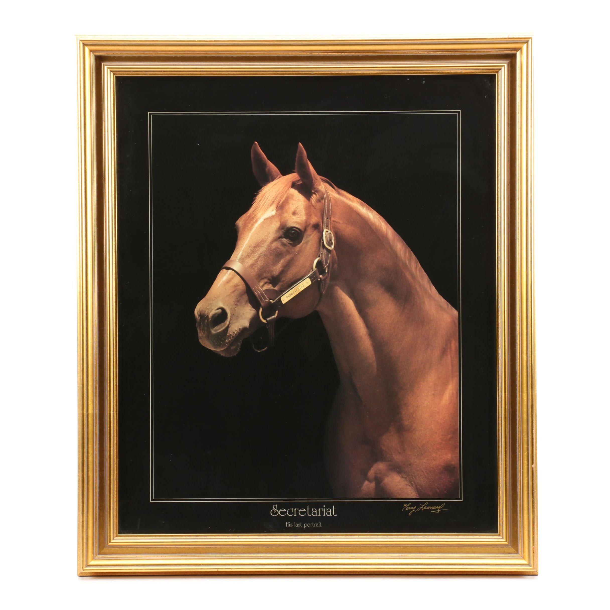 "Tony Leonard Offset Lithograph ""Secretariat: His Last Portrait"""