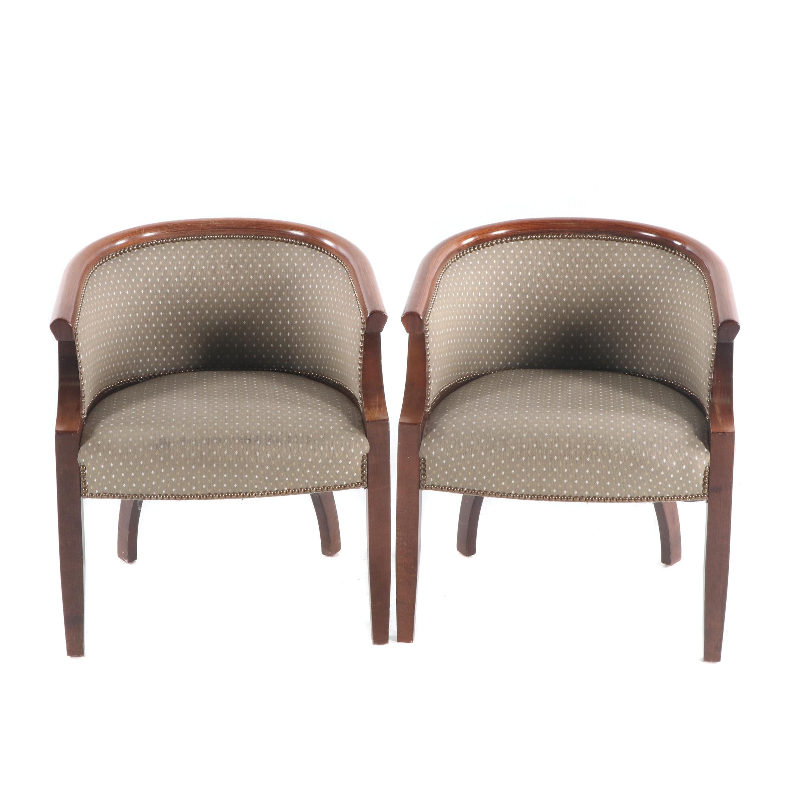 Upholstered Tub Chairs, Late 20th Century