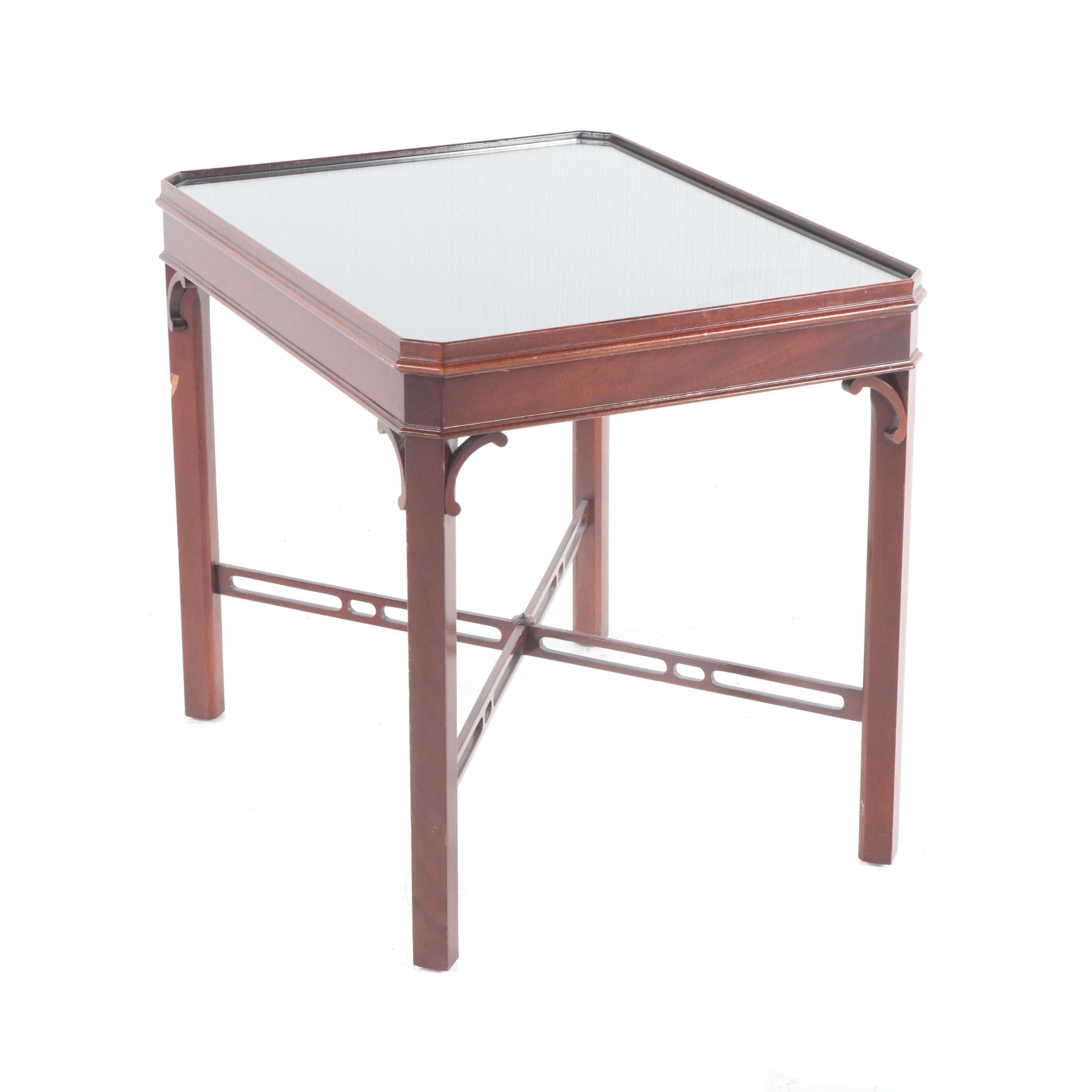 Chippendale Style Mahogany Side Table, Late 20th Century by Council Craftsman