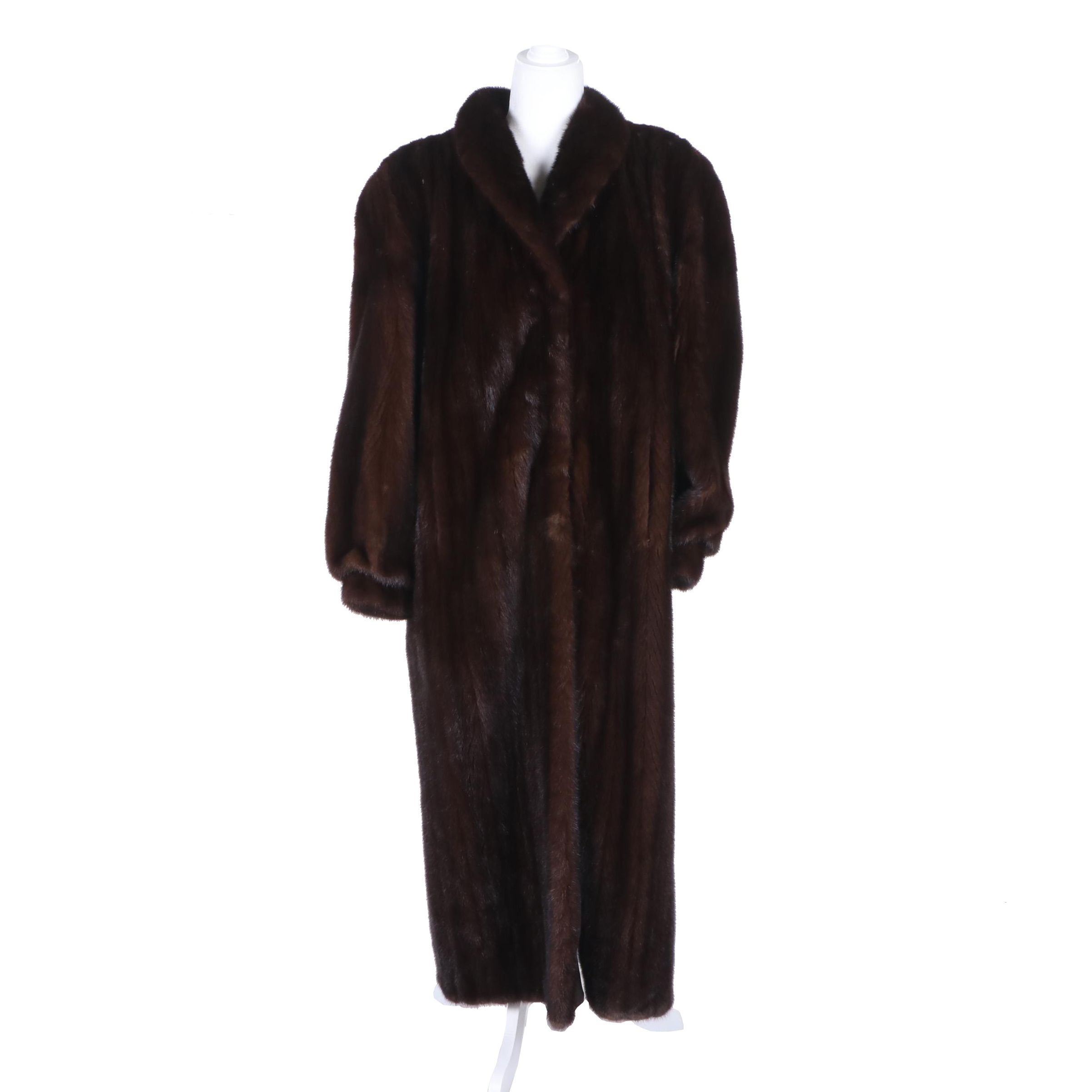 Women's Mahogany Mink Fur Full-Length Coat by William H. Harris