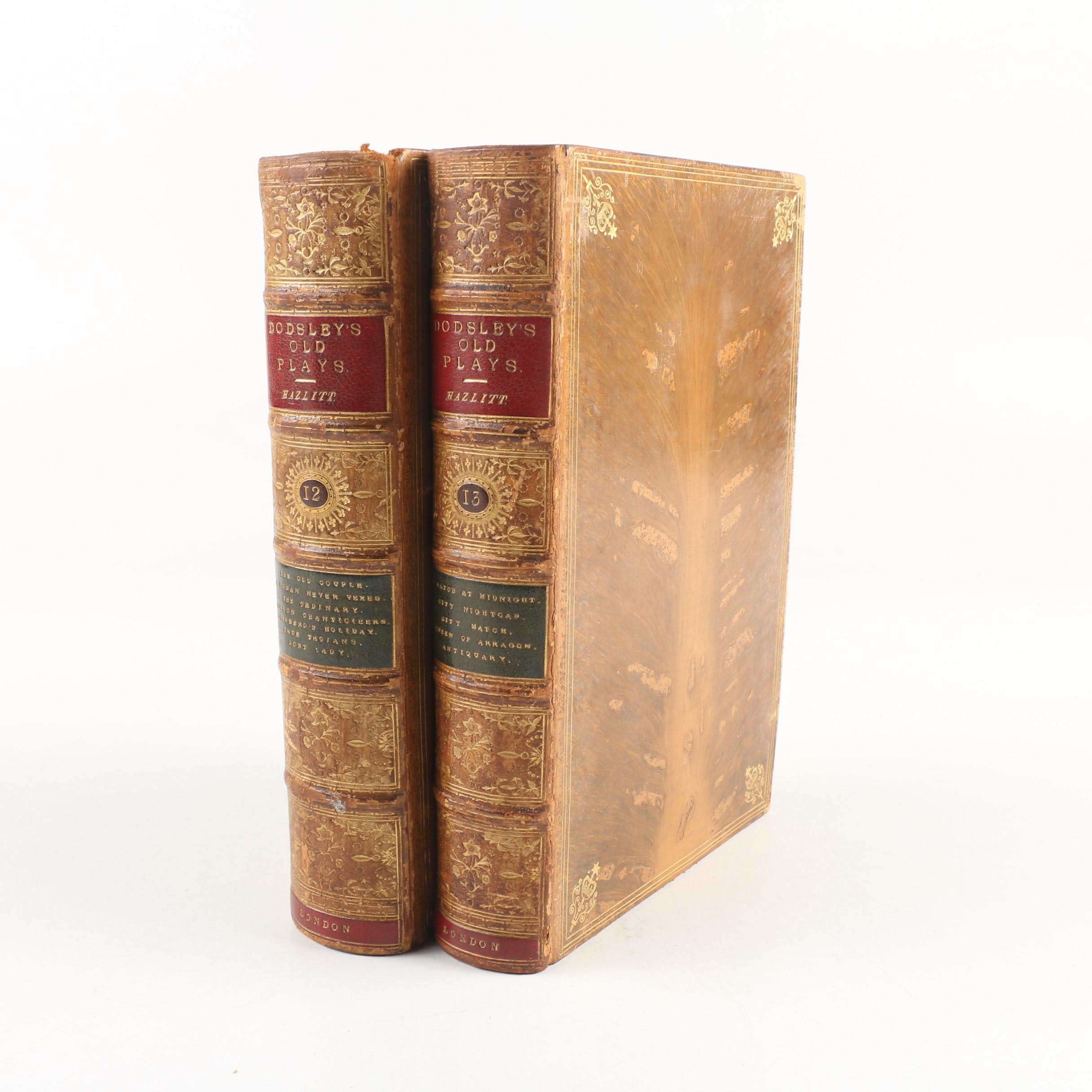 """""""A Select Collection of Old English Plays"""" by W. Carew Hazlitt, 1875"""