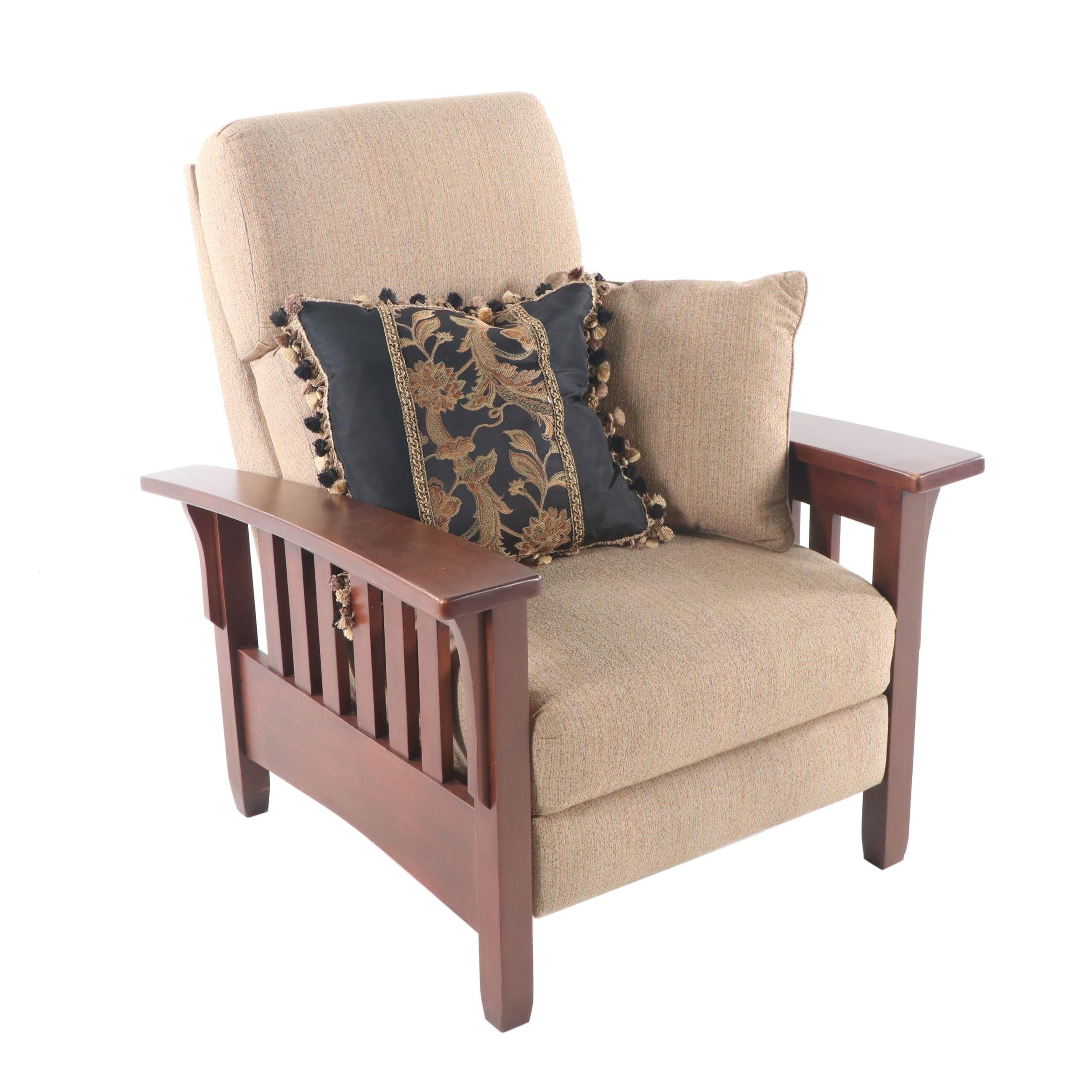 Mission Style Upholstered Armchair by Ethan Allen, 21st Century
