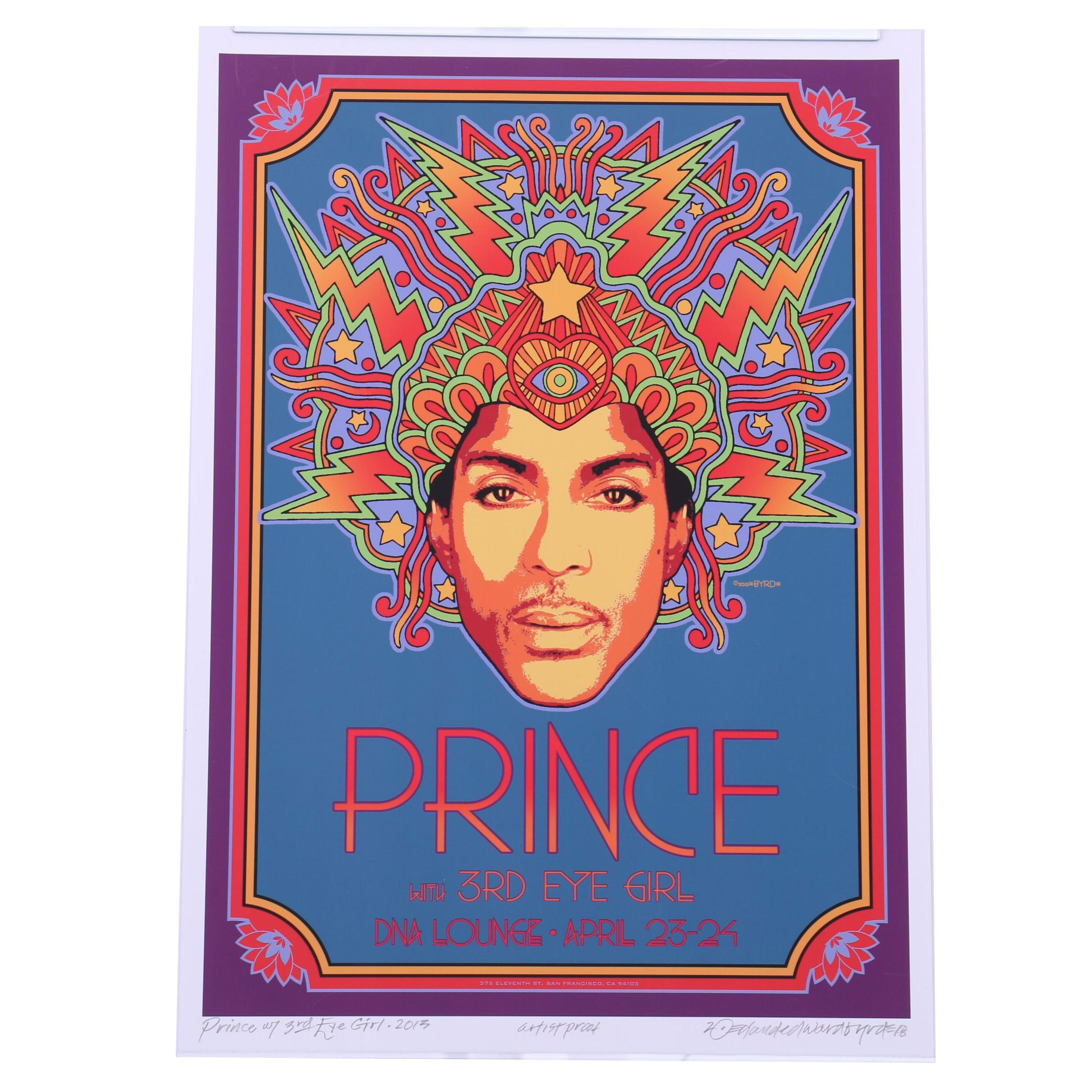 "David Edward Byrd Giclée ""Prince with Third Eye Girl"""