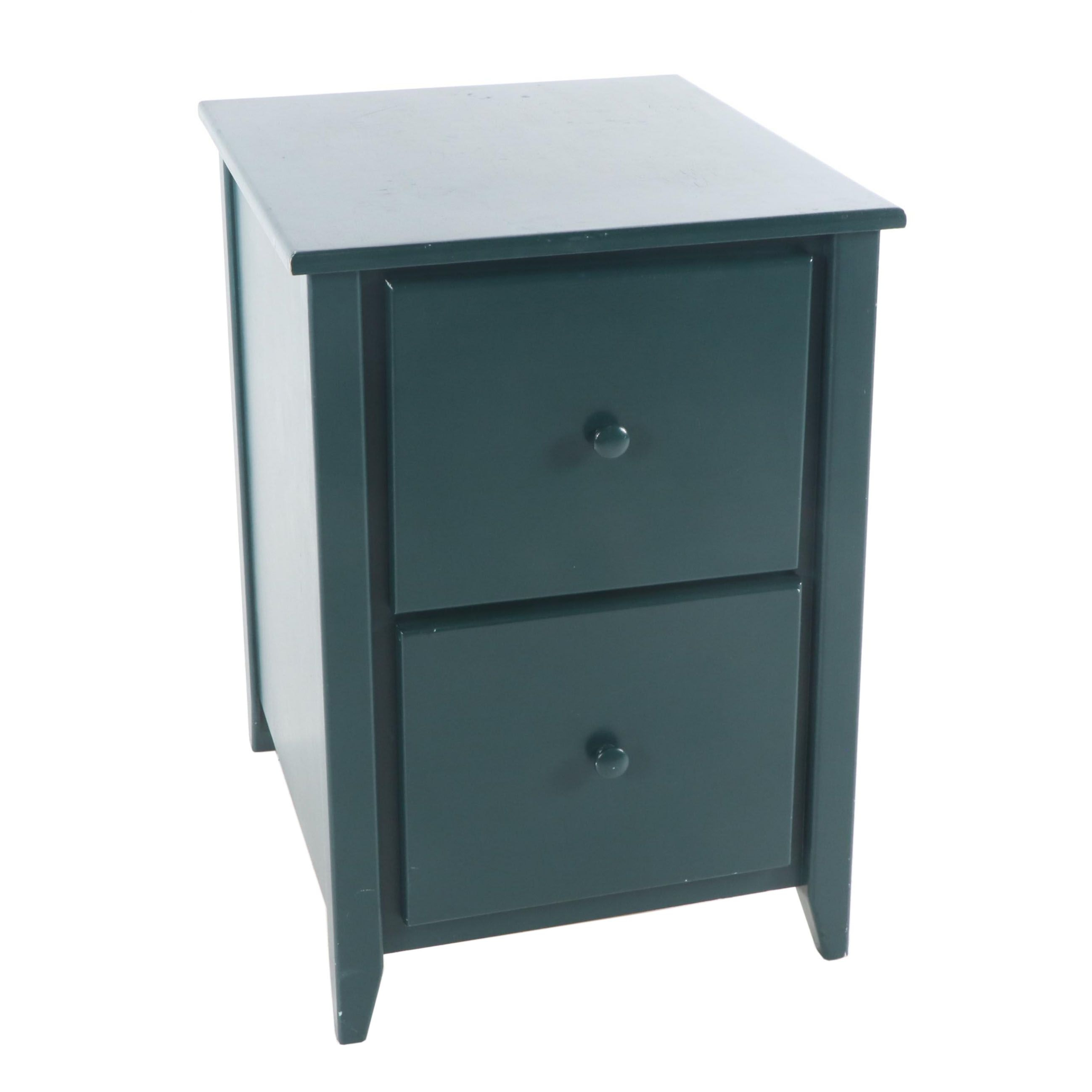 Painted Wood Two-Drawer File Cabinet, 21st Century
