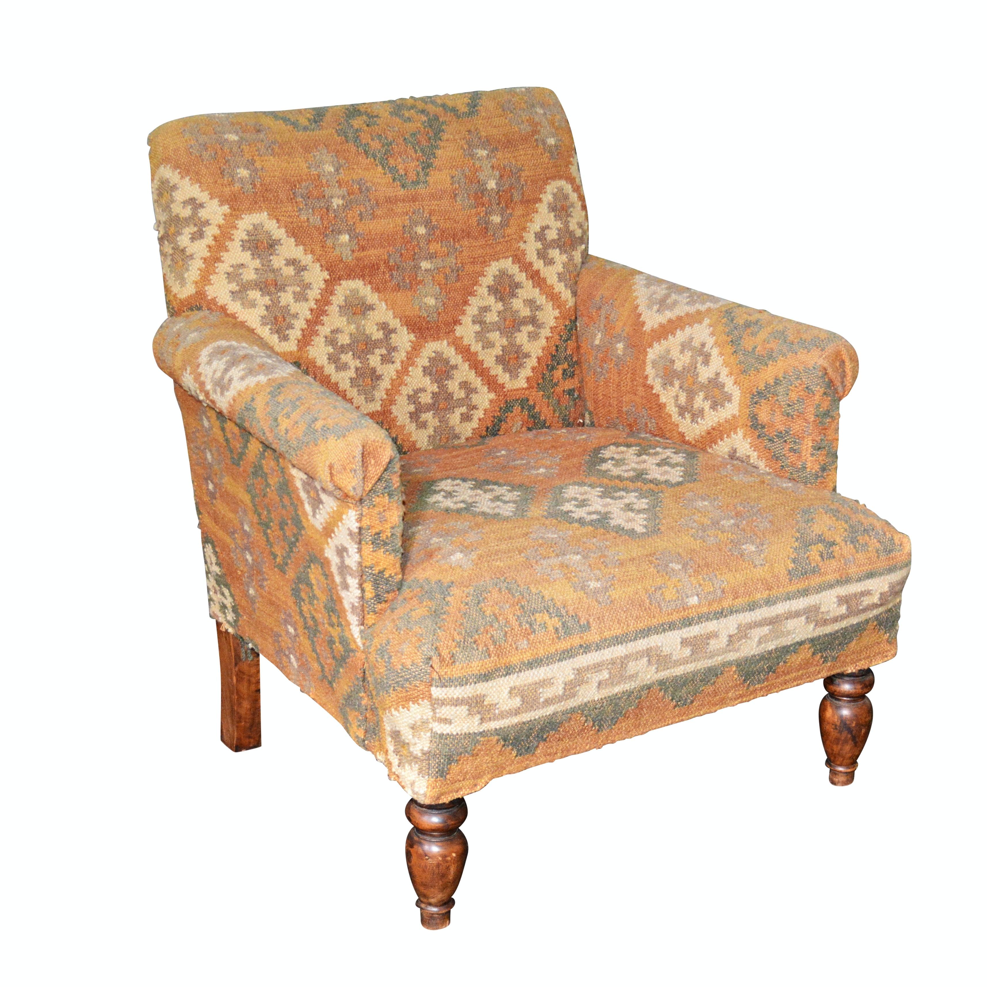 Kilim Upholstered Armchair