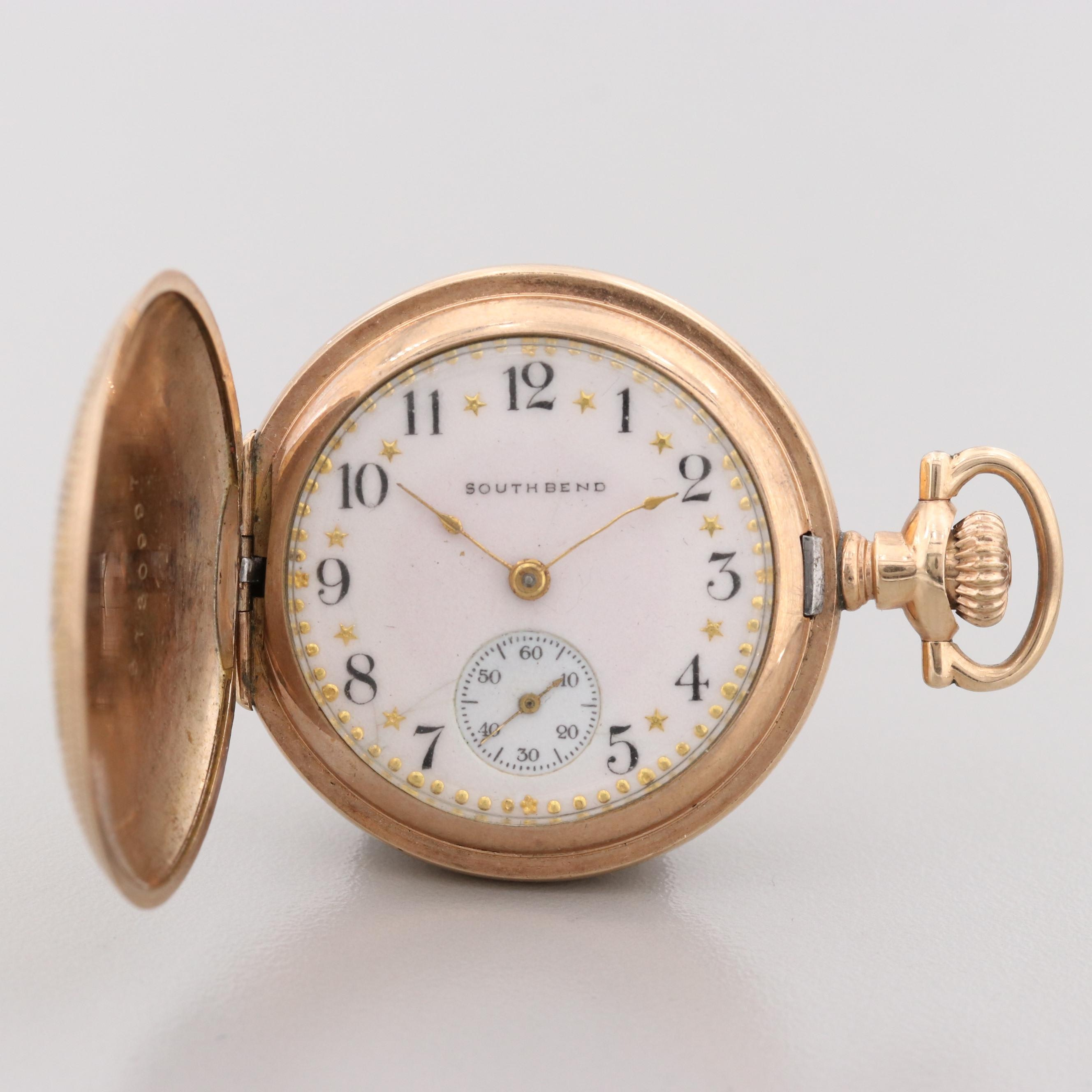 South Bend Gold Filled Pocket Watch, 1912
