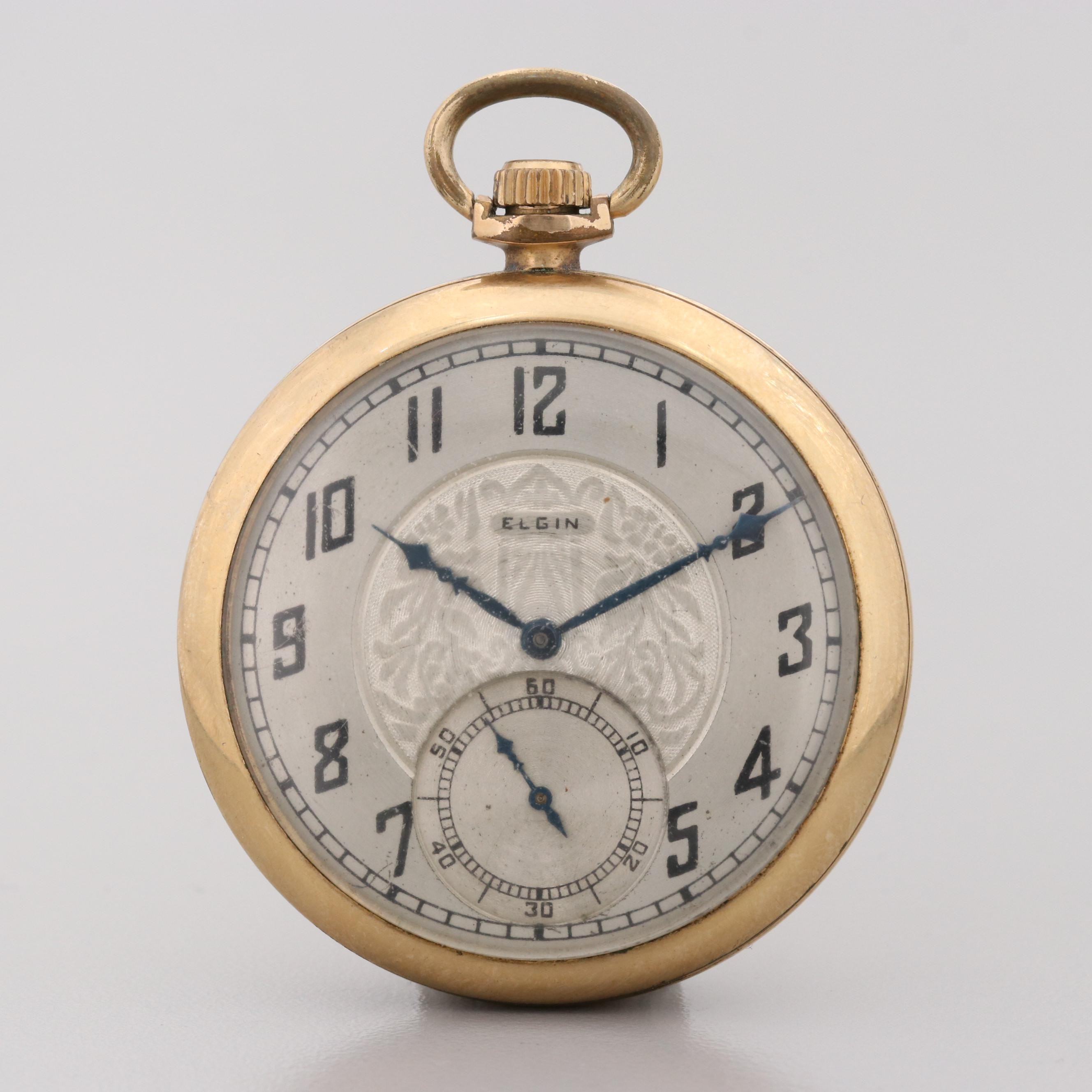Elgin 10K Gold Filled Pocket Watch, 1928