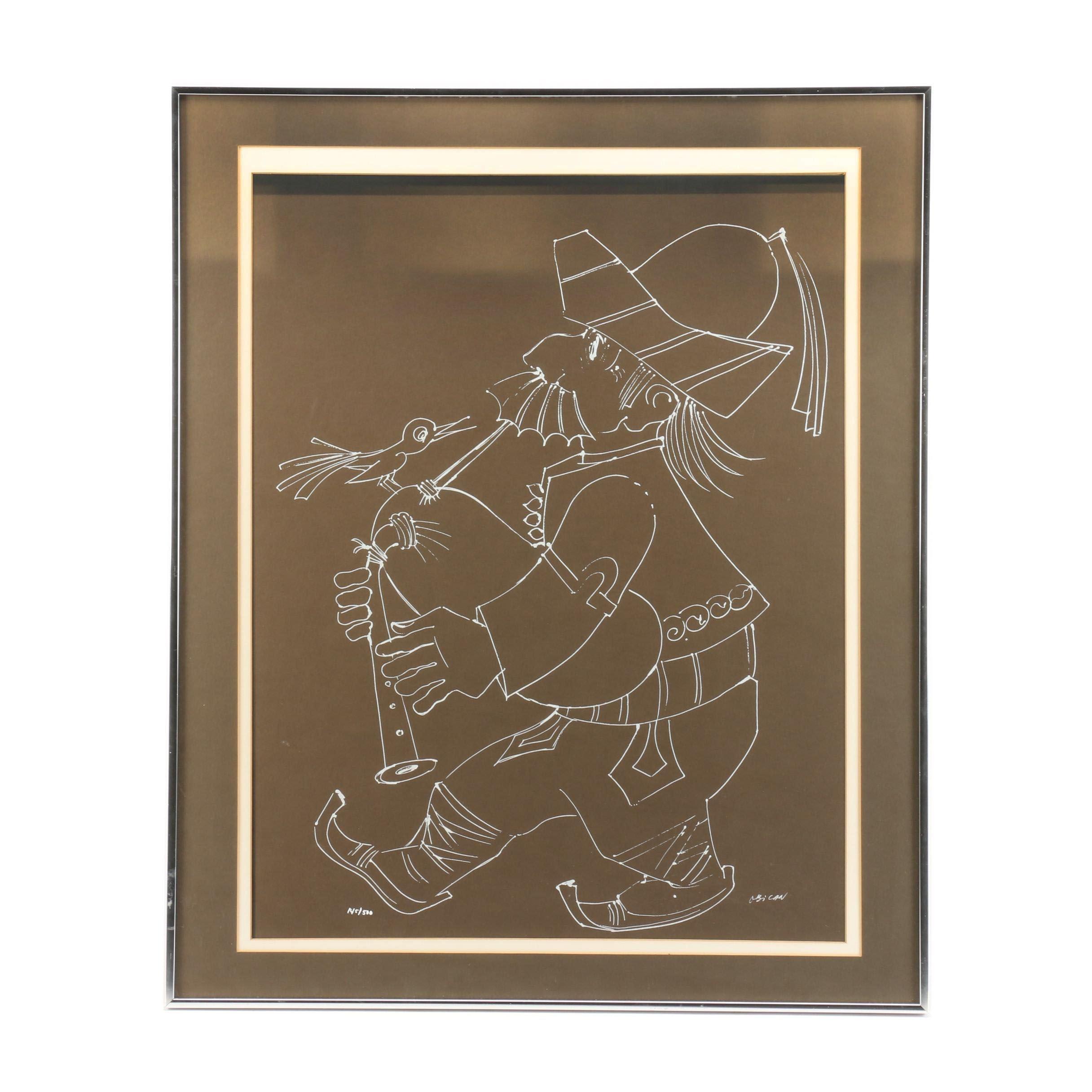 Jovan Obican Figural Limited Edition Serigraph