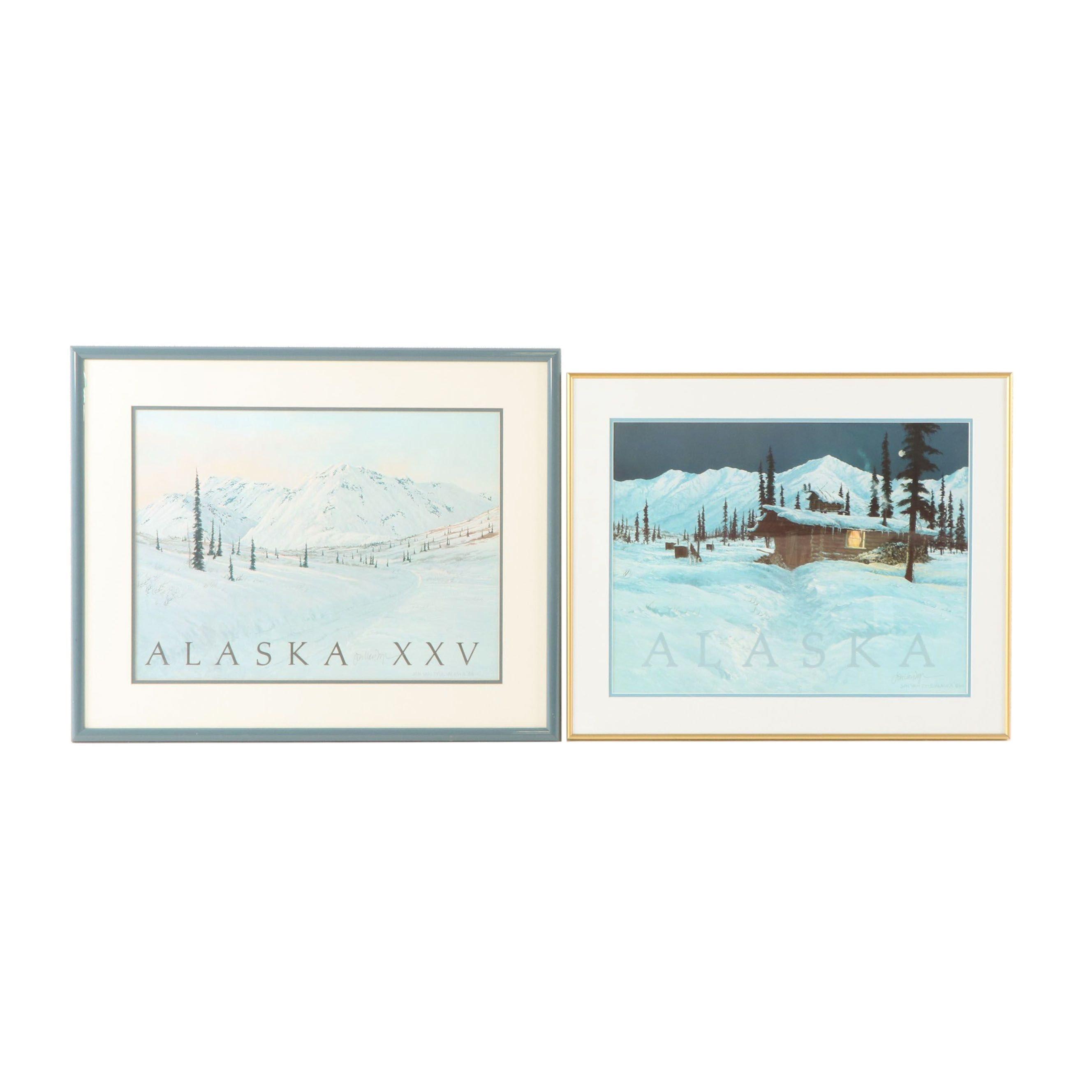 Offset Lithographs of Alaska after Jon Van Zyle