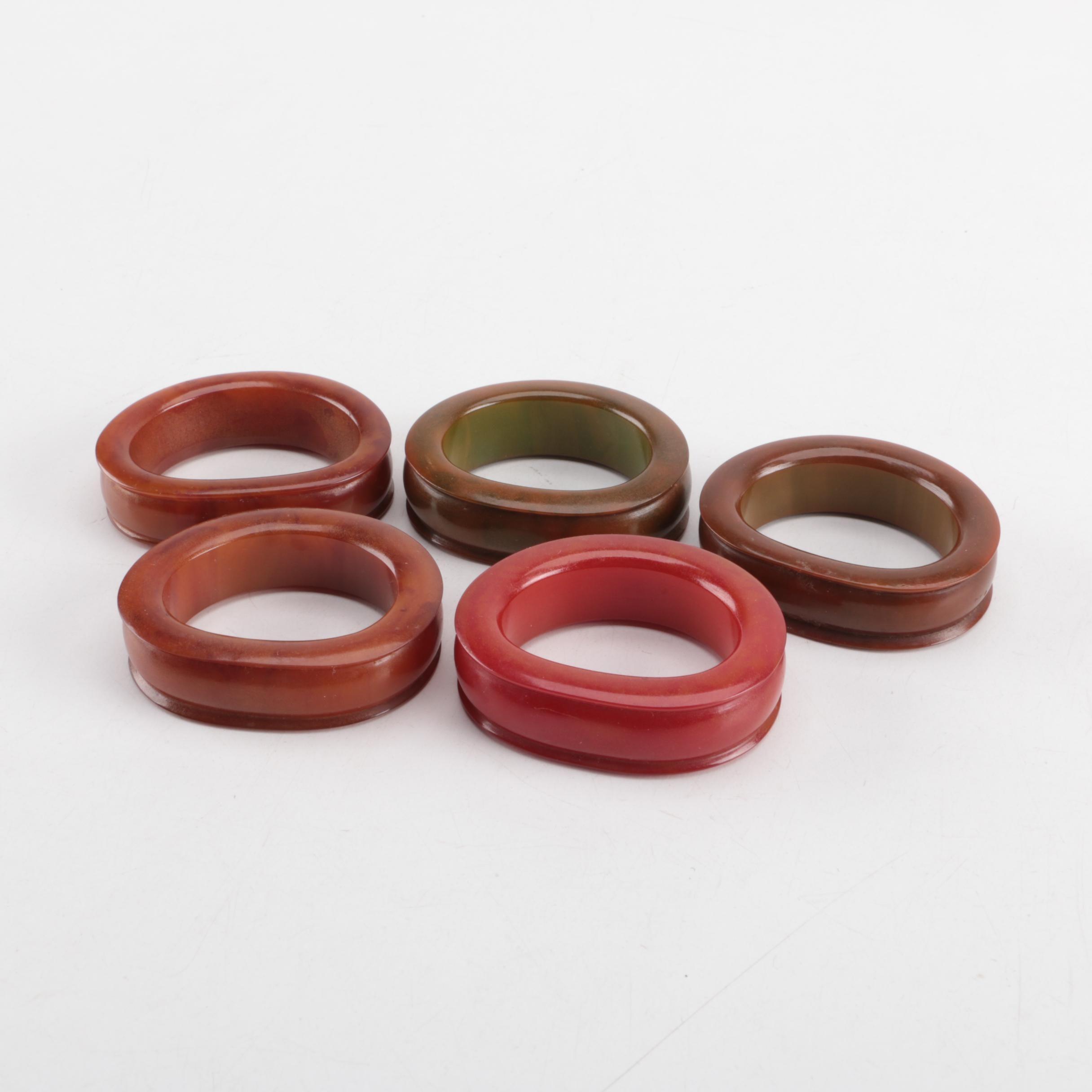 Mid-Century Bakelite Napkin Rings