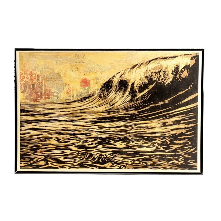 "Shepard Fairey Signed Offset Print ""Dark Wave"""