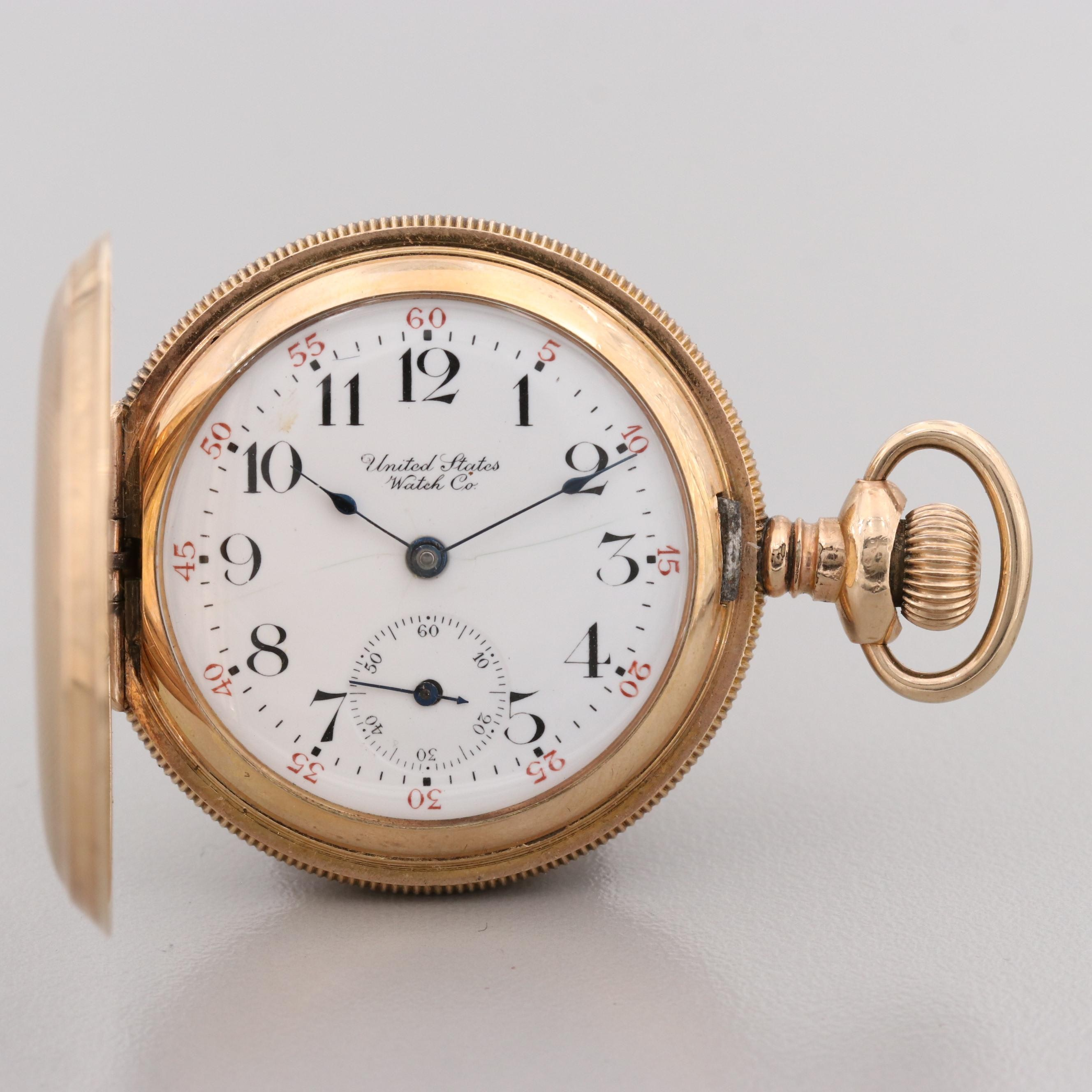Antique U.S. Watch Co. Gold Filled Pocket Watch