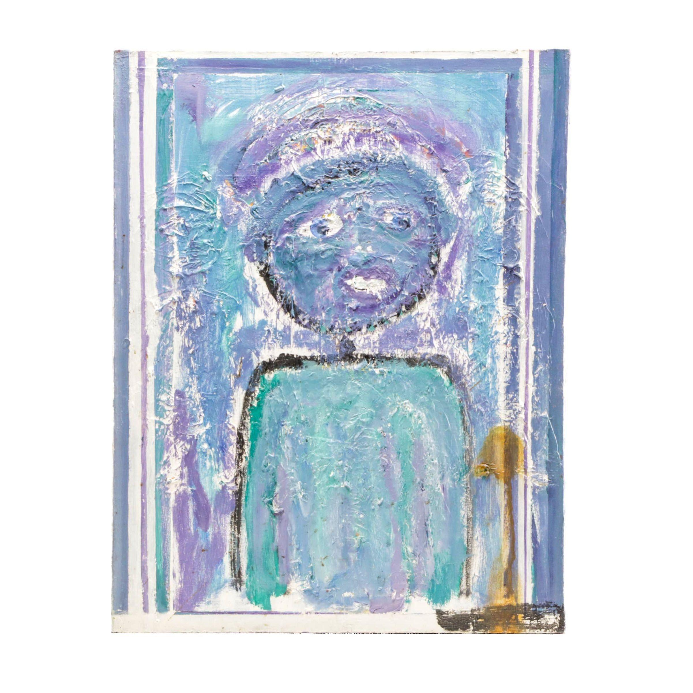 Perry Winkle Acrylic Painting Folk Art Portrait