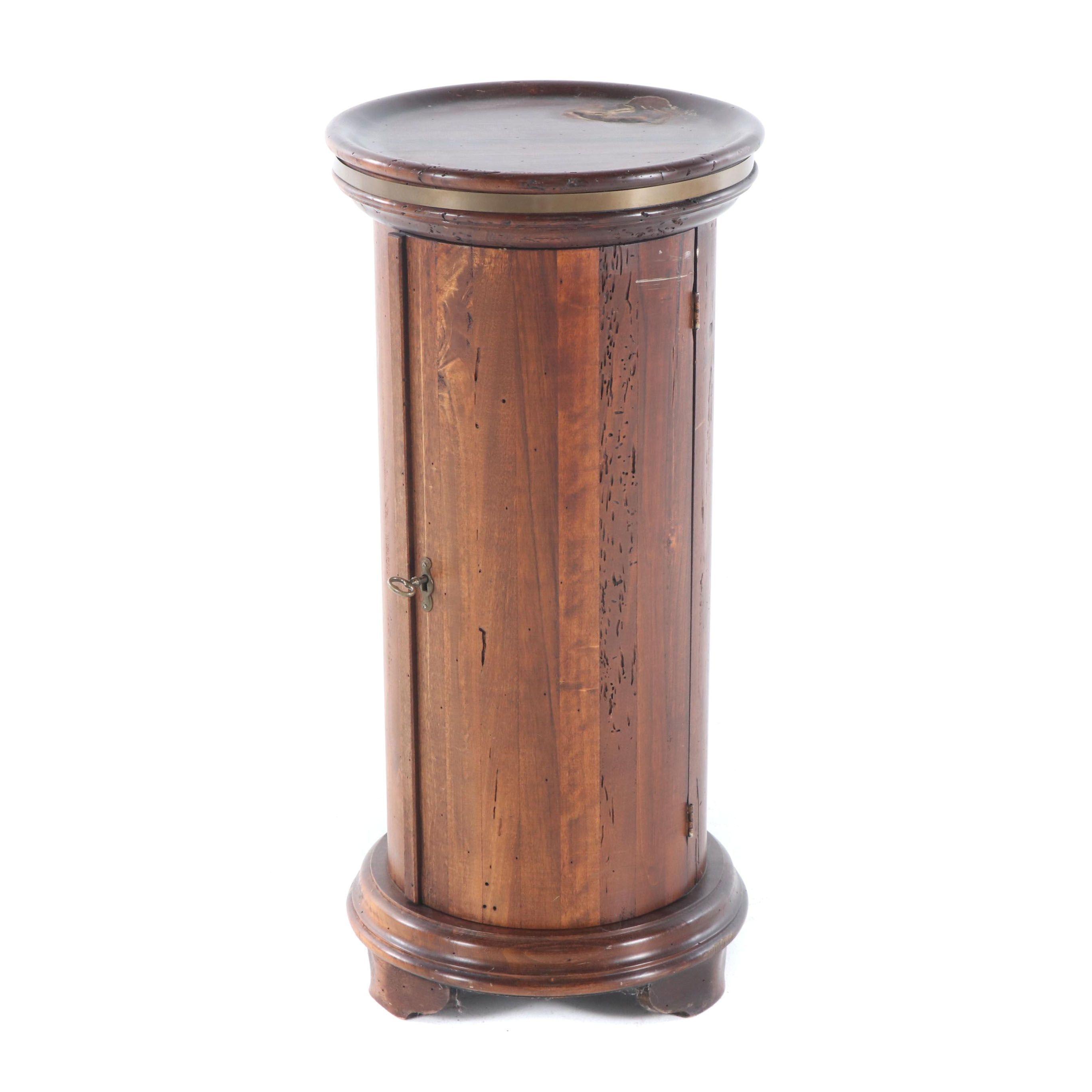 Walnut Pedestal Cabinet, Late 20th Century