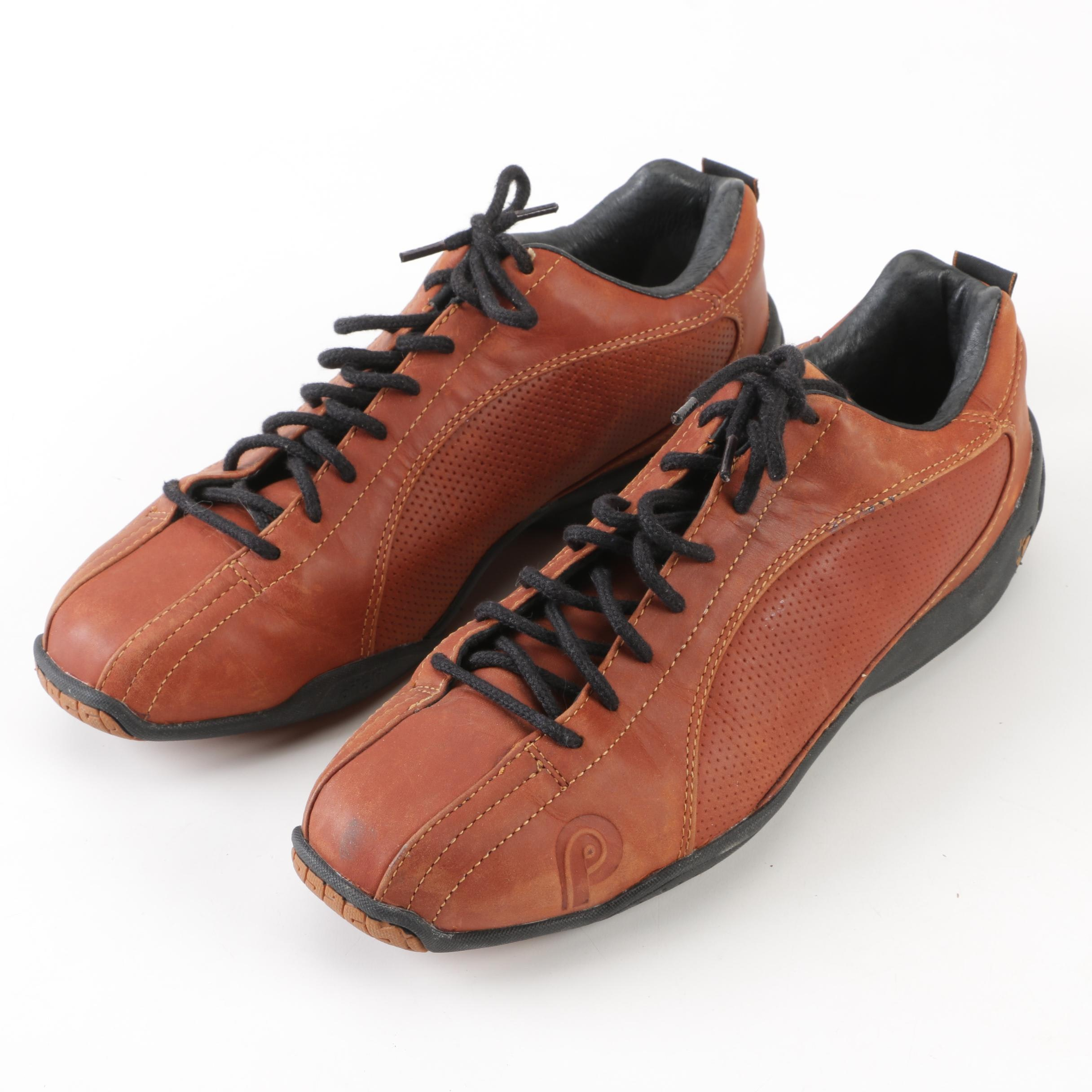 Piloti Sebring Brown Leather Lace-Up Shoes