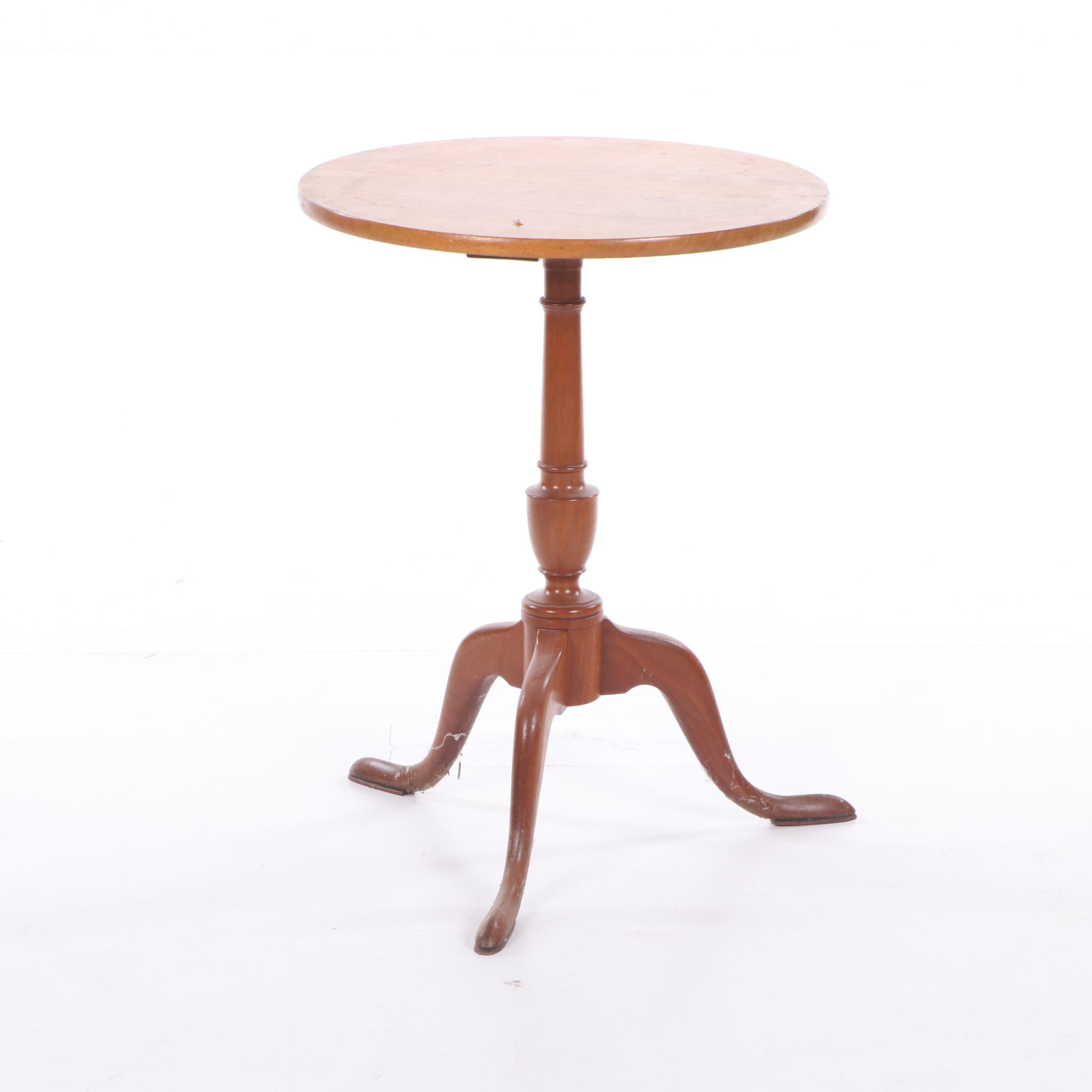 Federal Style Walnut Tea Table, Late 20th Century