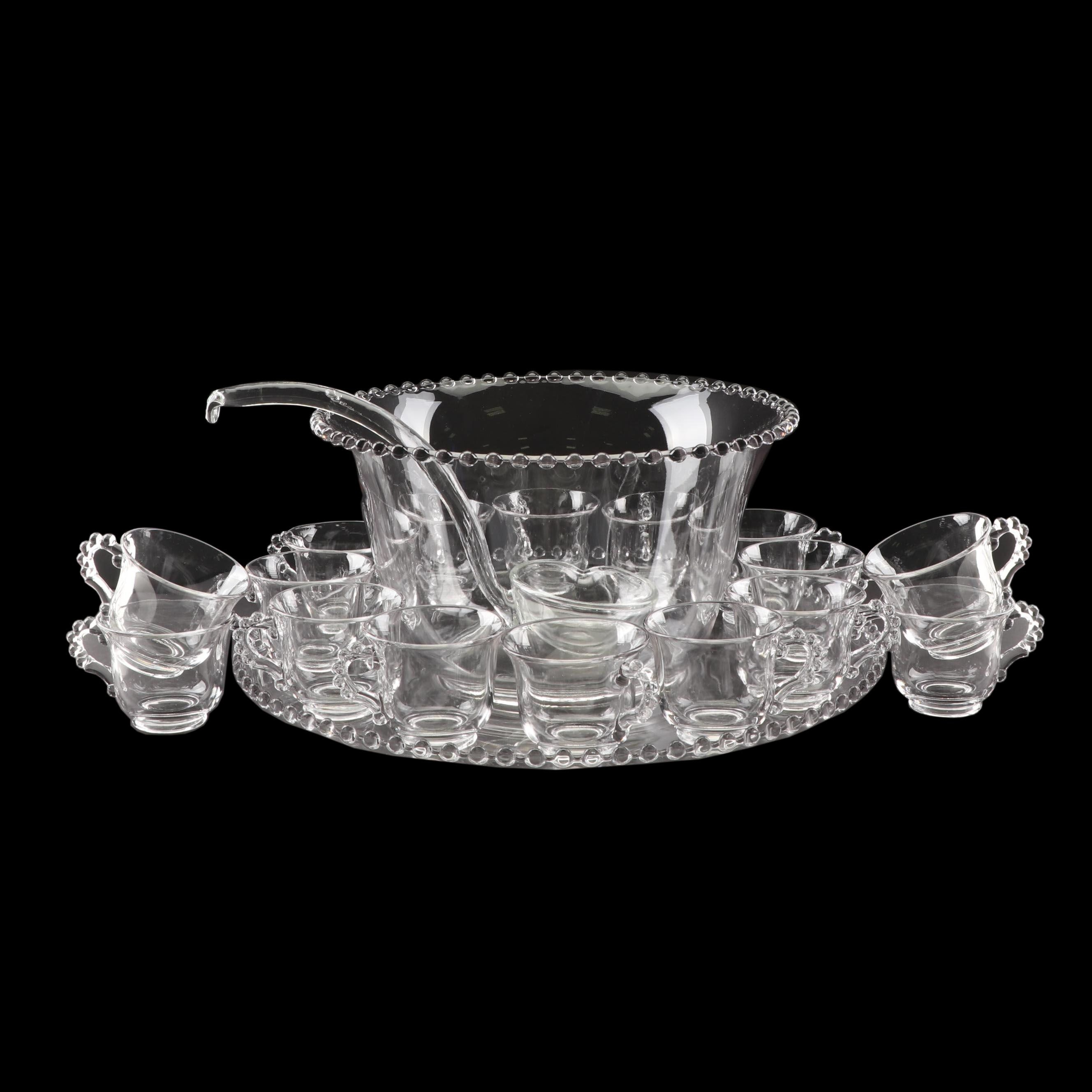 """Imperial Glass """"Candlewick"""" Punch Bowl Set"""