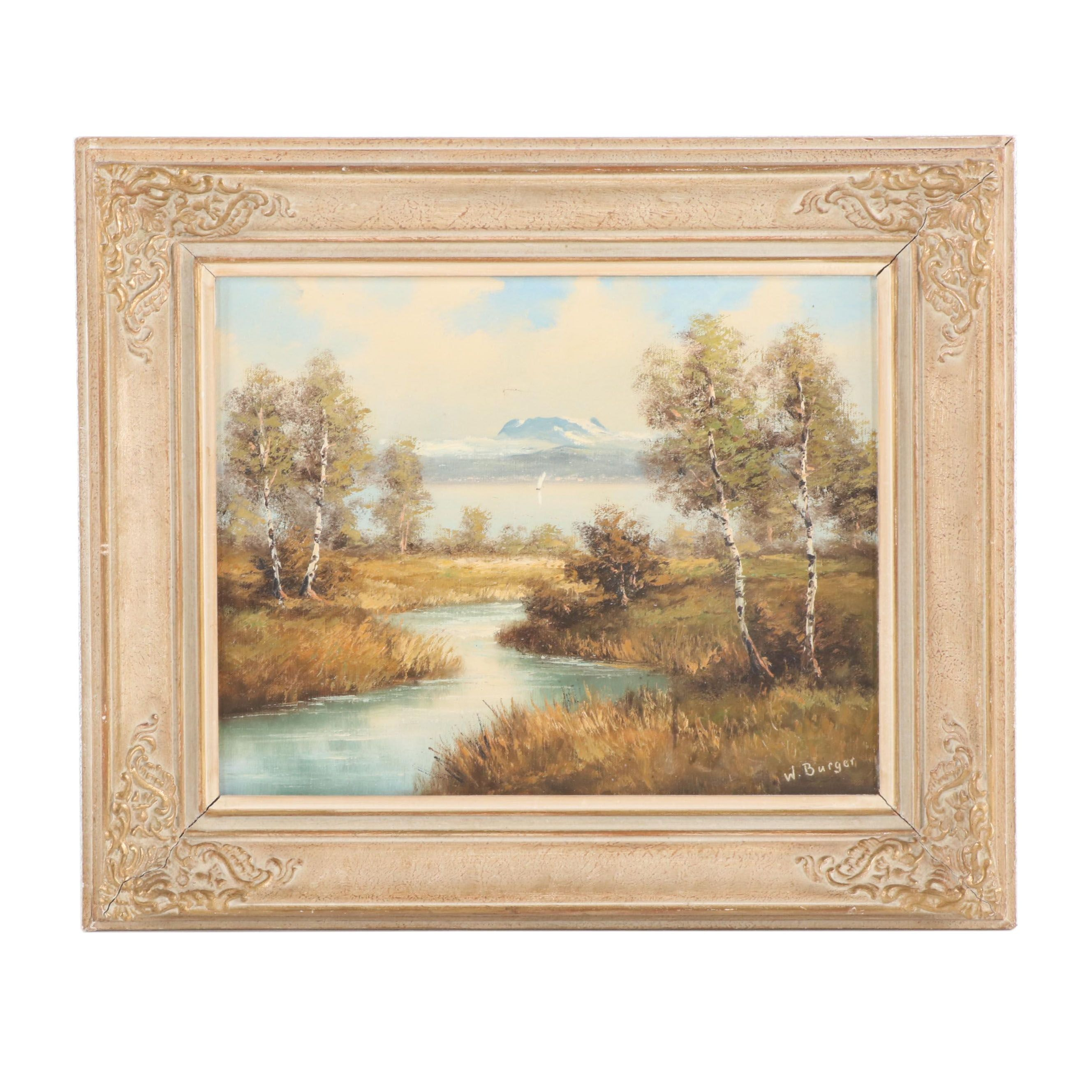 W. Burger Landscape Oil Painting