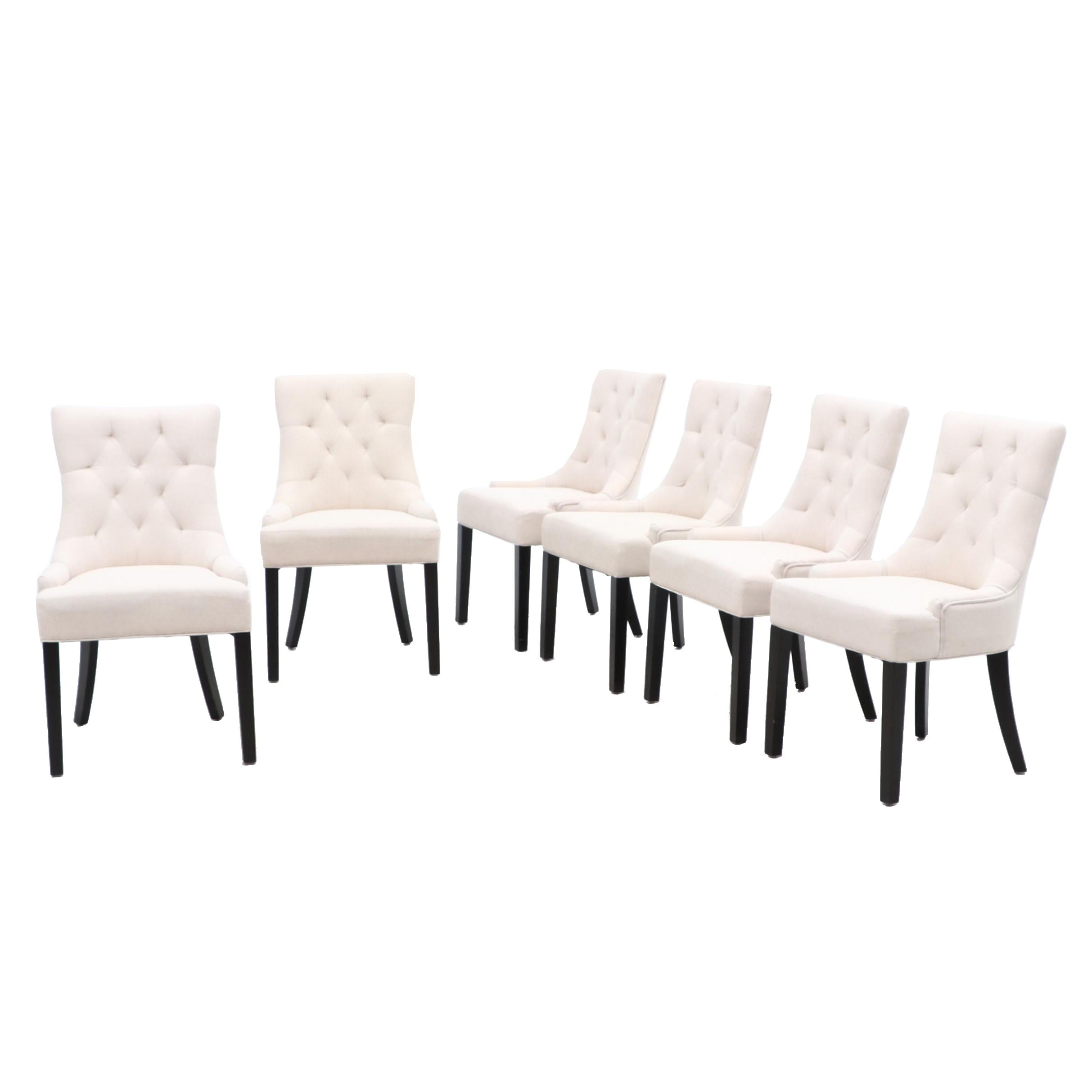 Button Tufted Side Chairs For Noble Home Furnishings in White