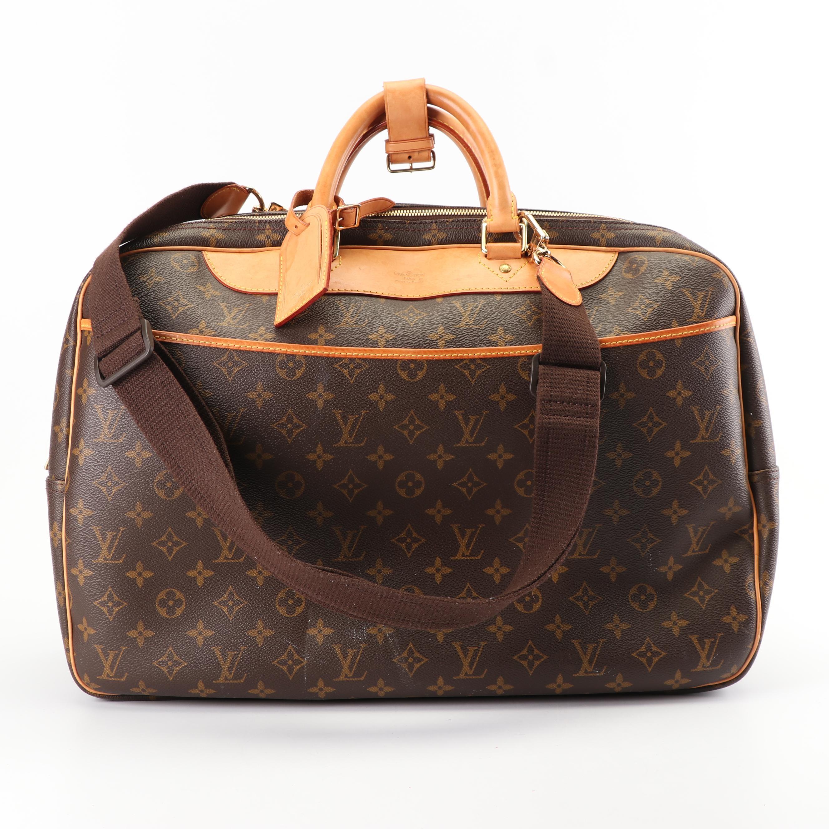 Louis Vuitton Paris Alize Monogram Coated Canvas Carry-On Bag, 2000