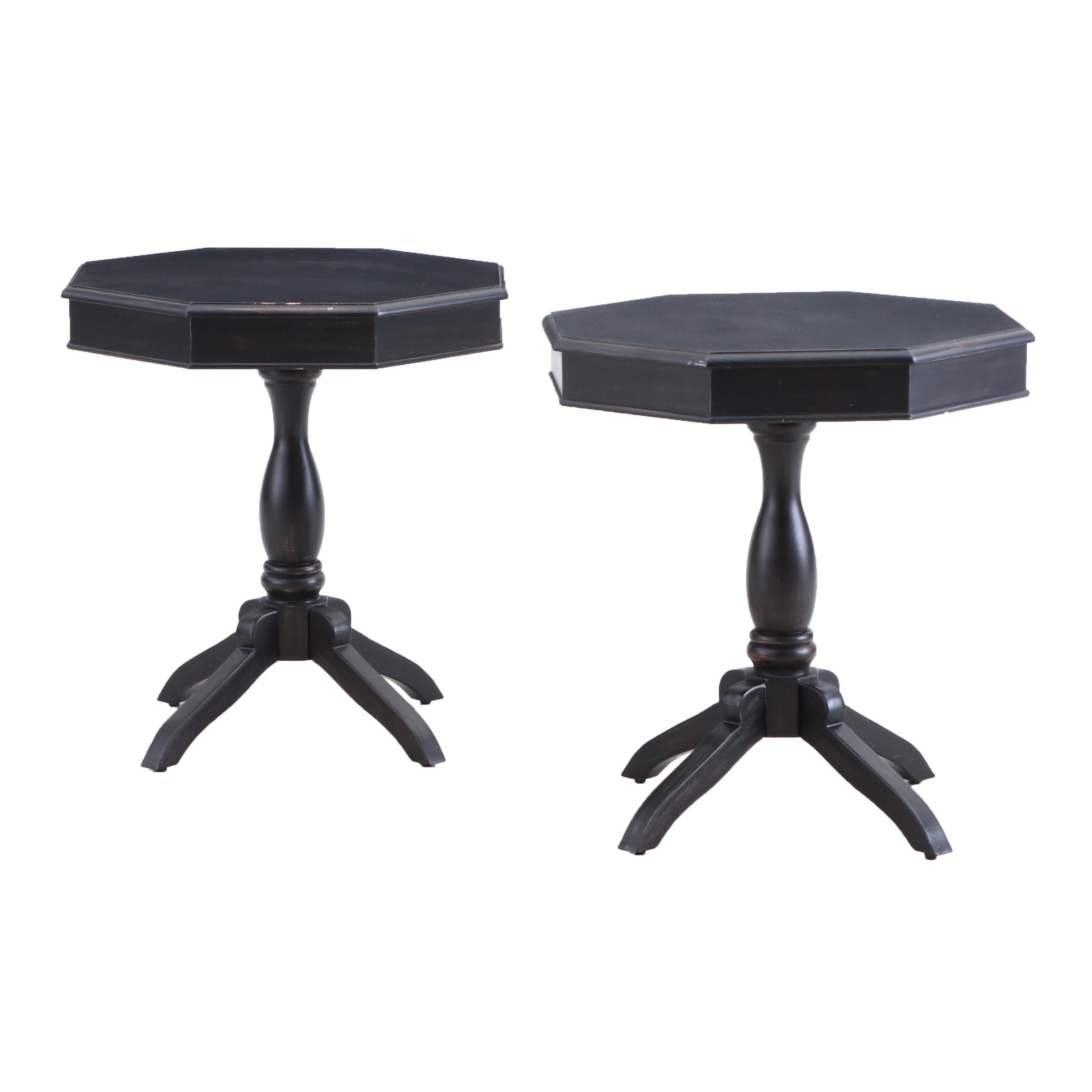 Pair of Hexagonal Tables in Black