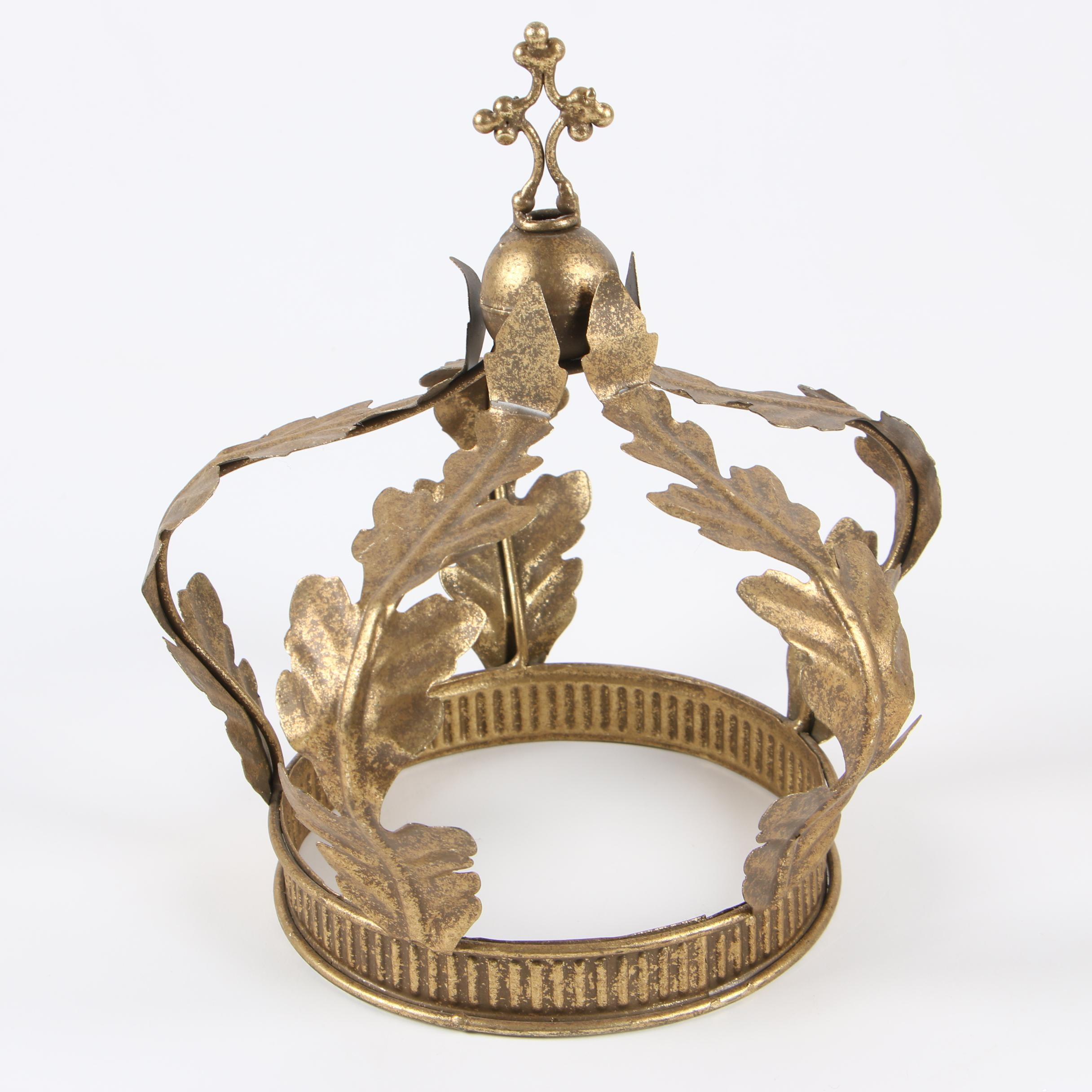 Decorative Gilt Metal Royal Crown