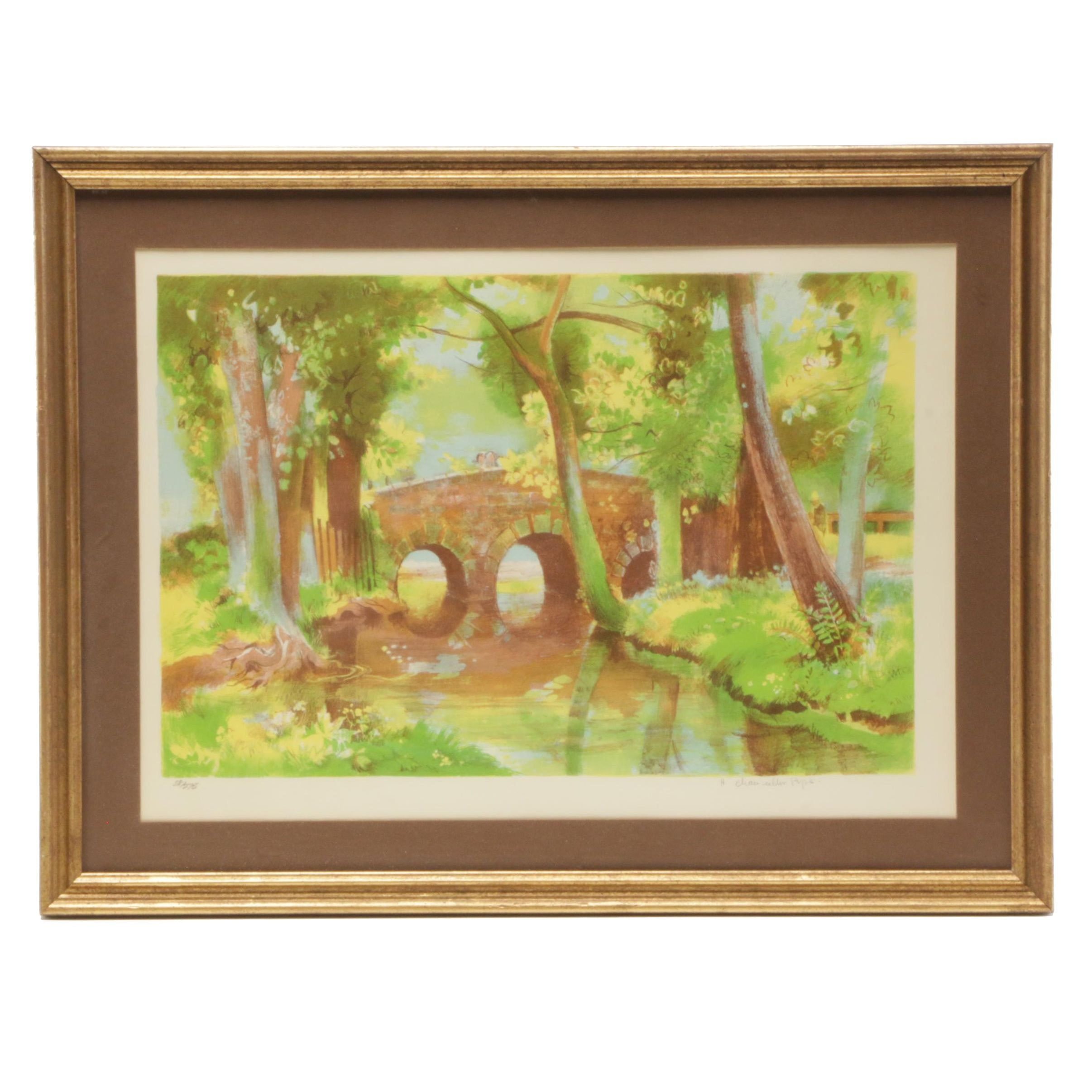 Hilda Chancellor-Pope Limited Edition Color Lithograph
