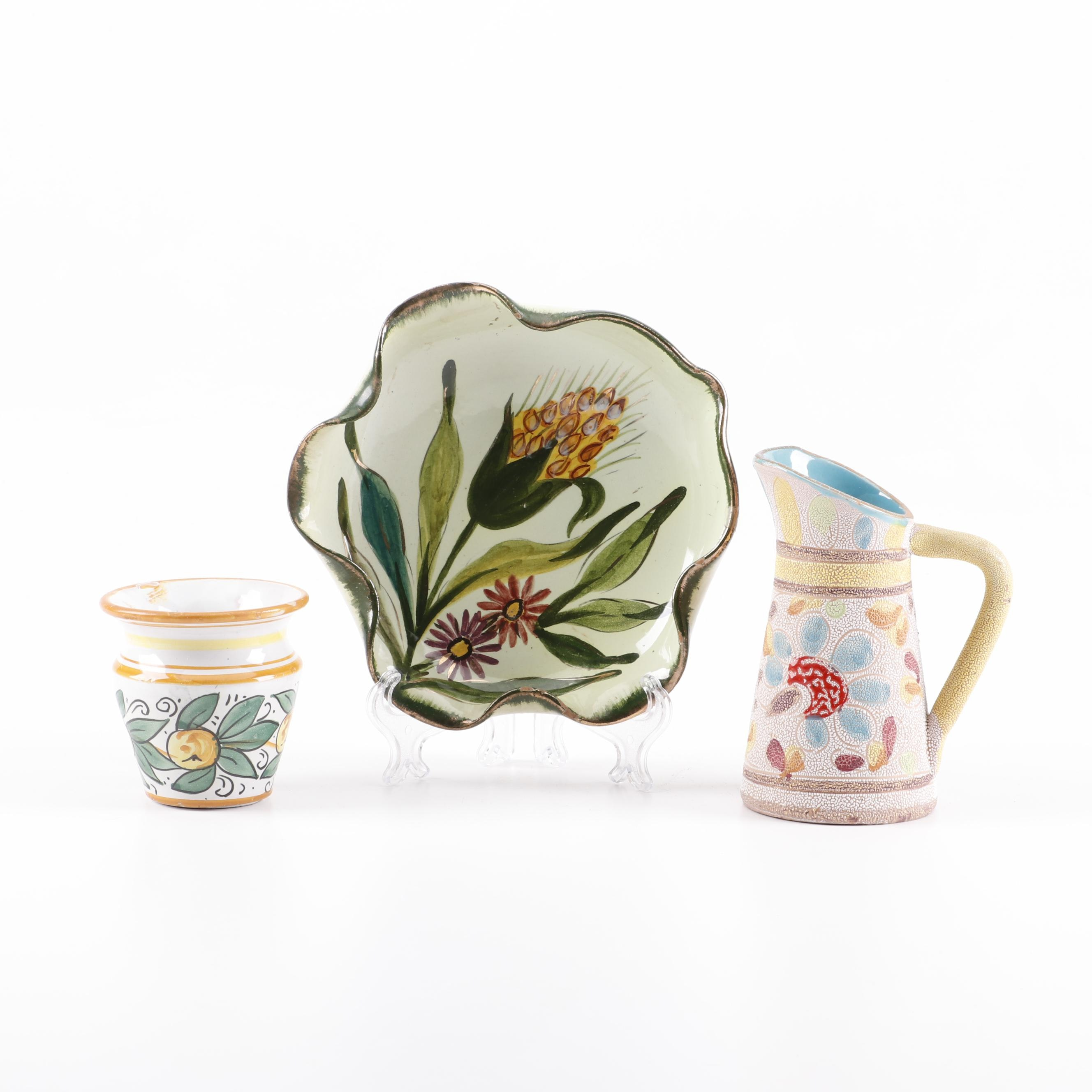 Italian Faïence Hand-Painted Tableware