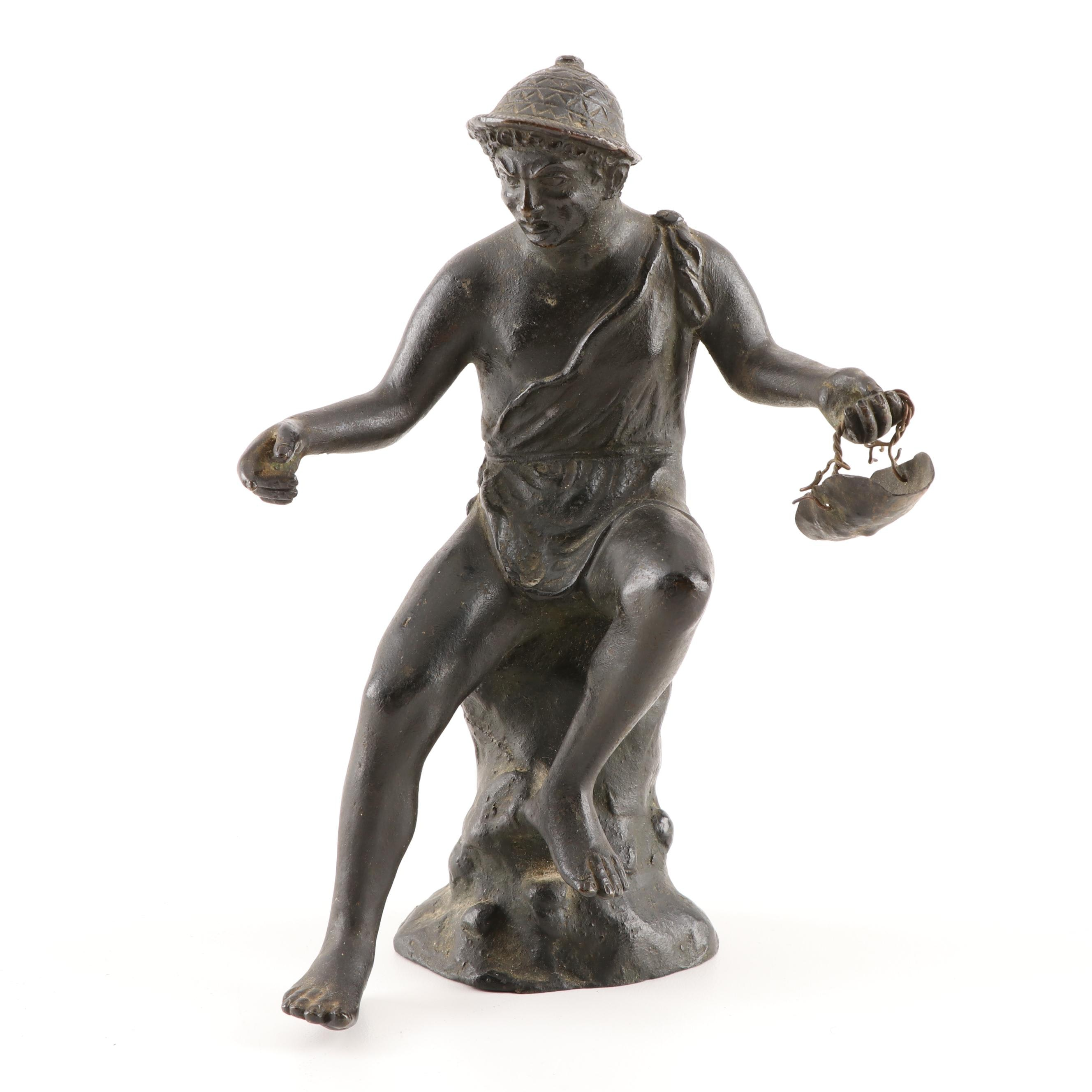 Spelter Sculpture of Male Figure