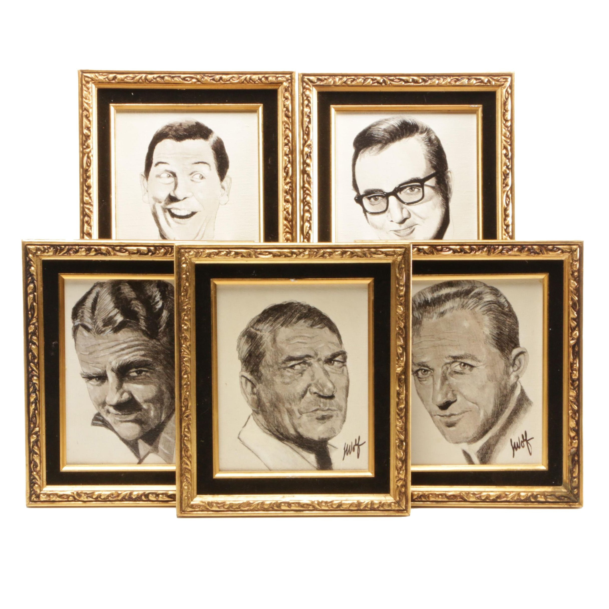 Mid 20th Century Acrylic Paintings featuring 1960s American Actors and Comedians