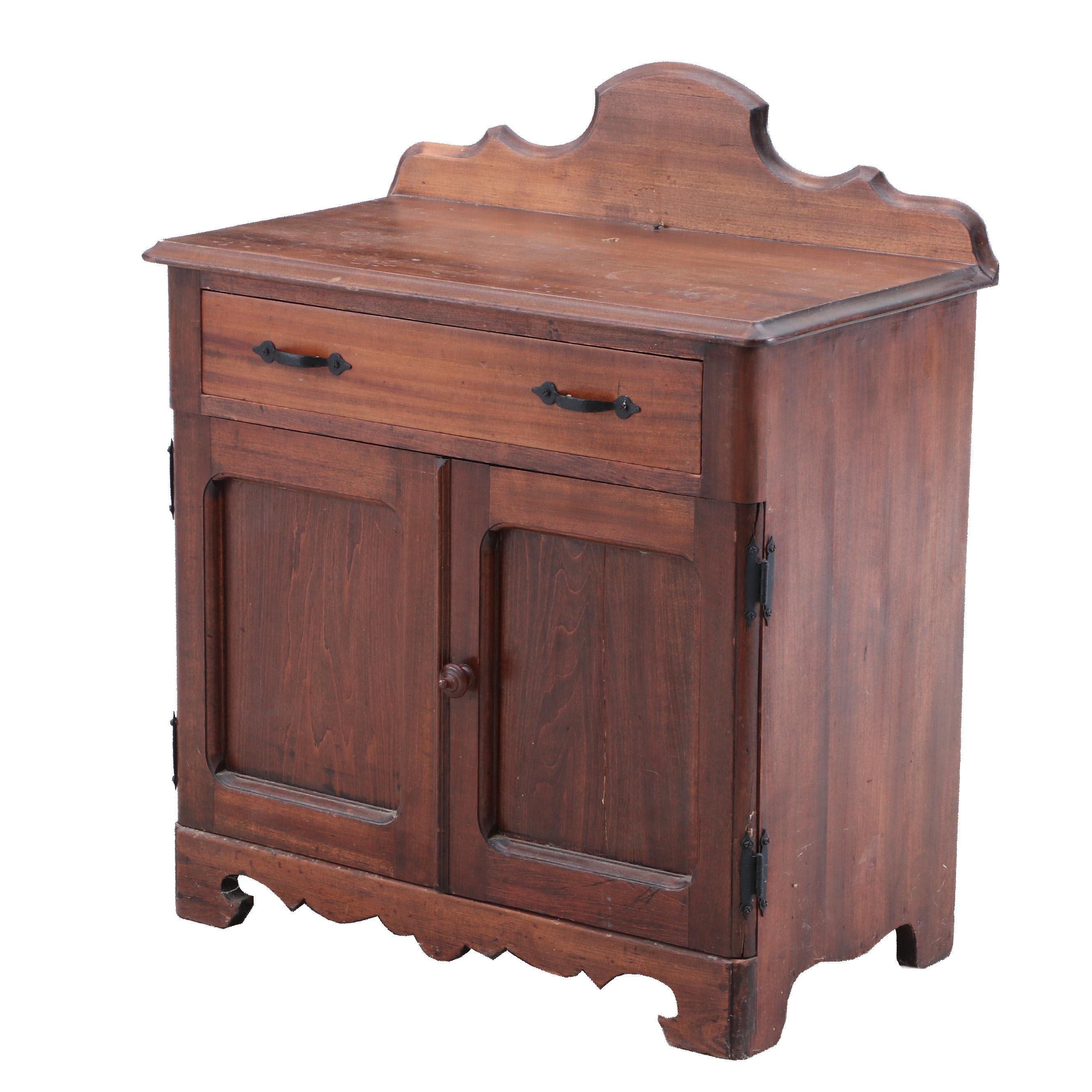 Wash Stand Cabinet in Walnut