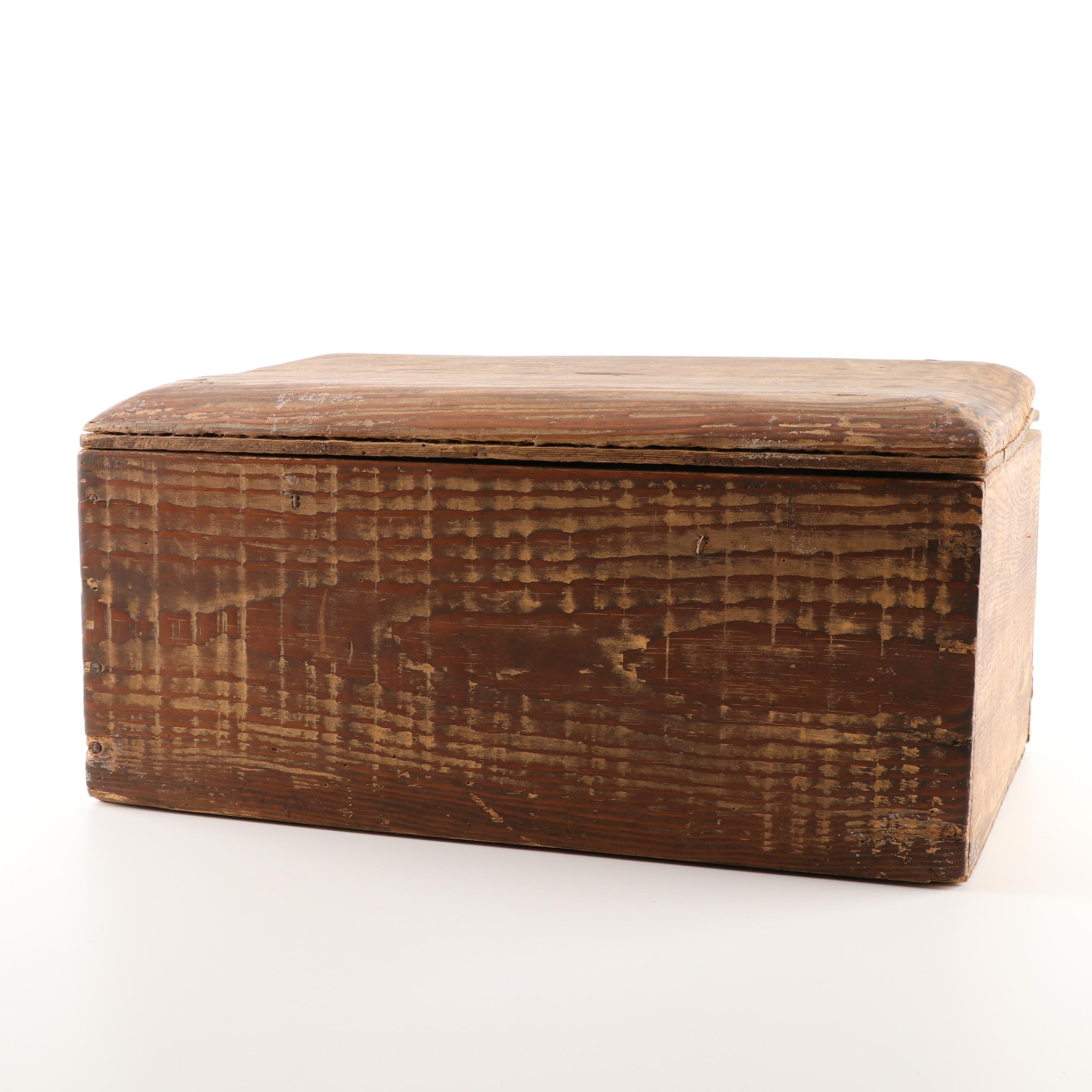 Handcrafted Pine Document Box, Early 20th Century