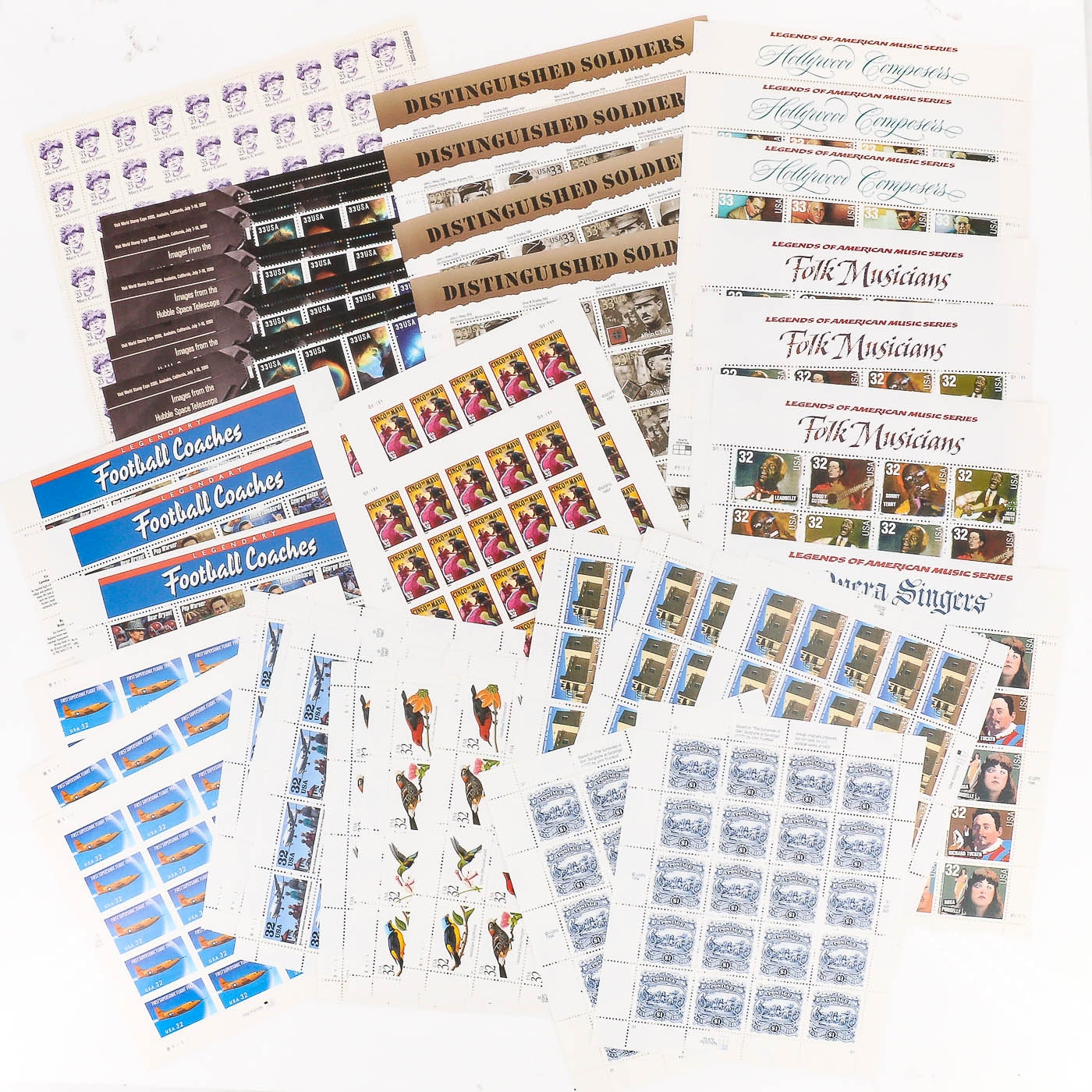 Group of 37 Sheets of U.S. Stamps