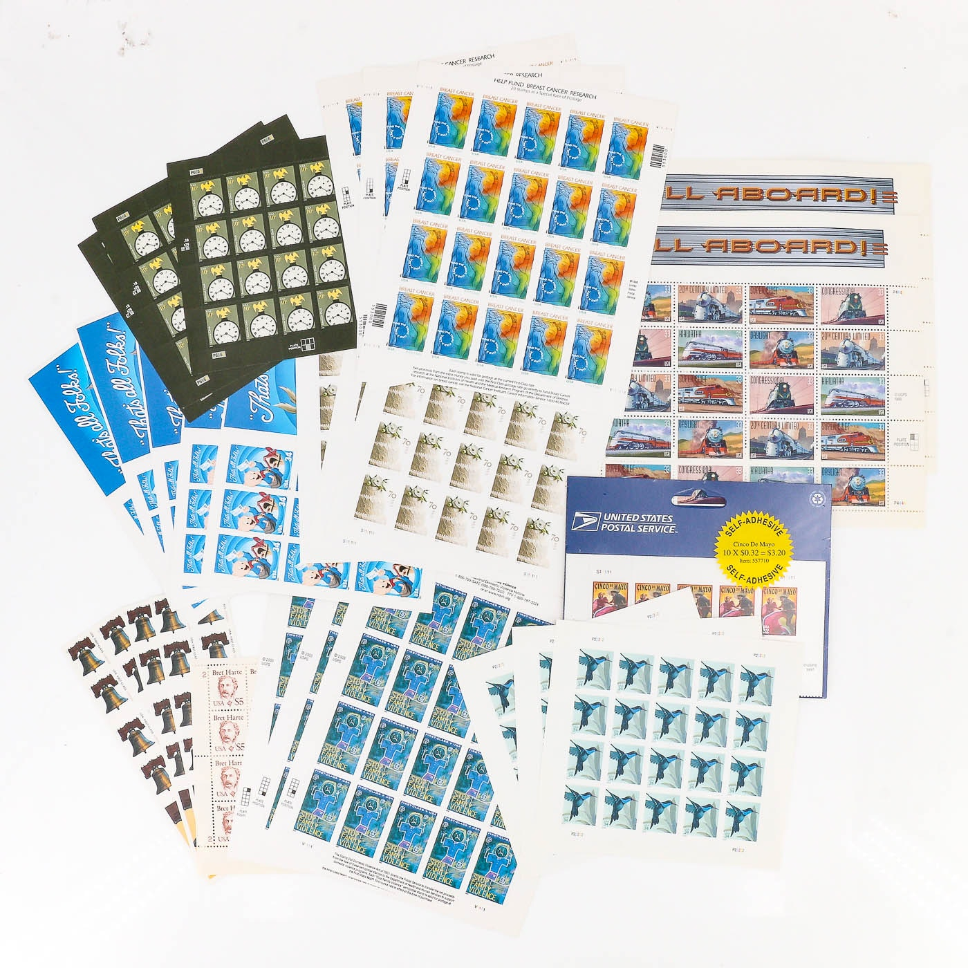 Group of 25 Stamp Sheets and Books of U.S. Stamps