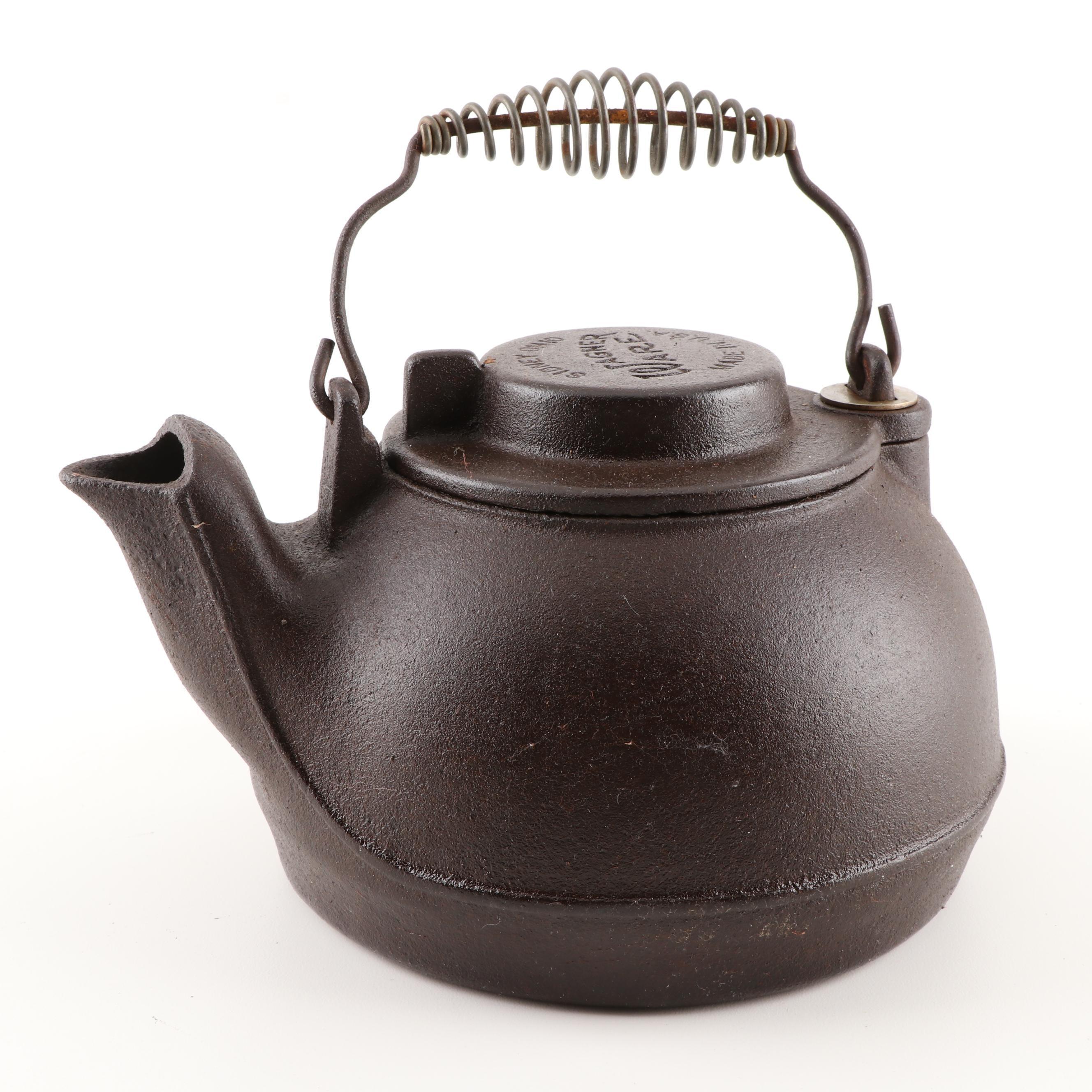 Wagner Ware Cast Iron Tea Kettle