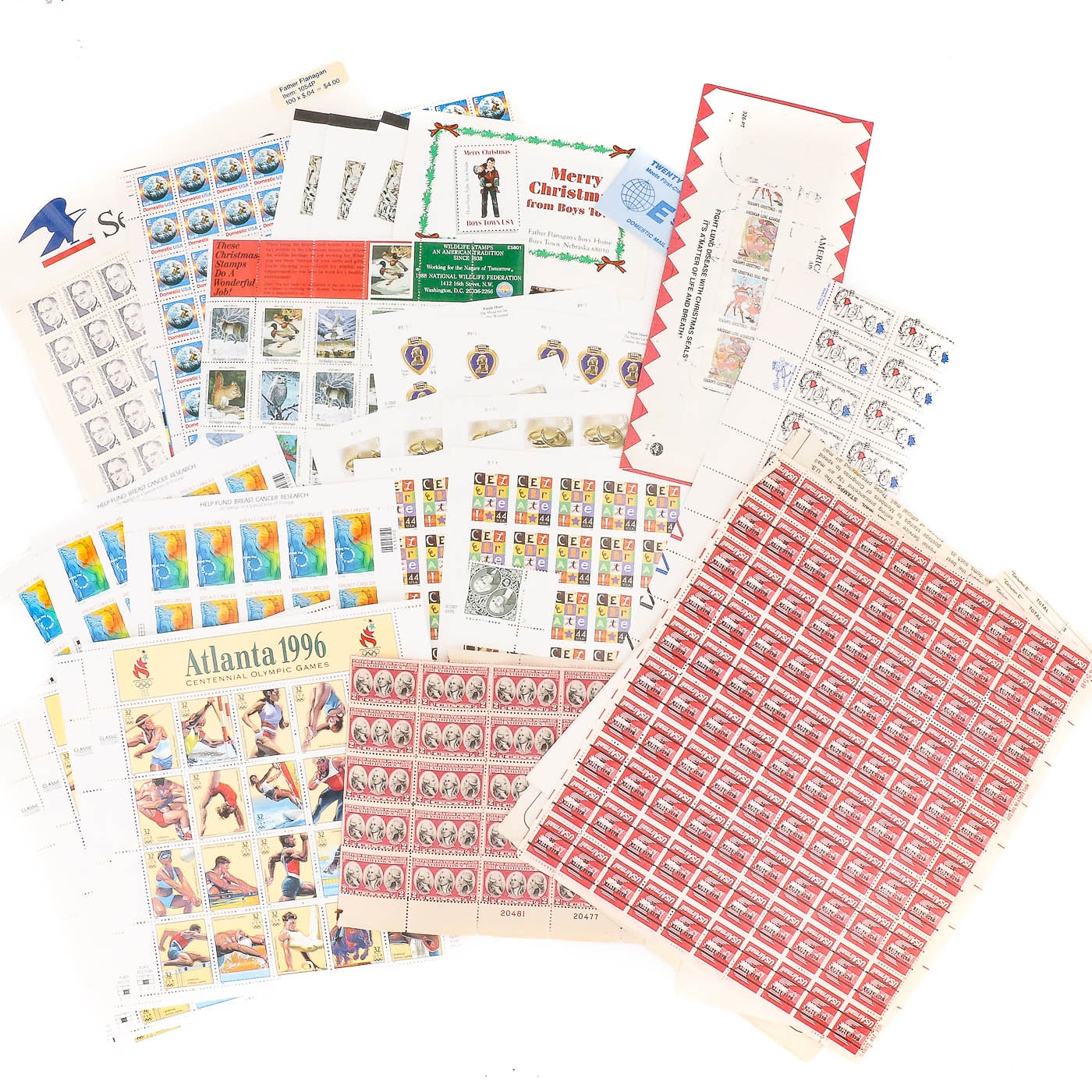 Group of U.S. Stamp Sheets