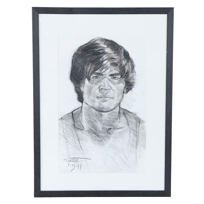 Charcoal Portrait Drawing, 2011