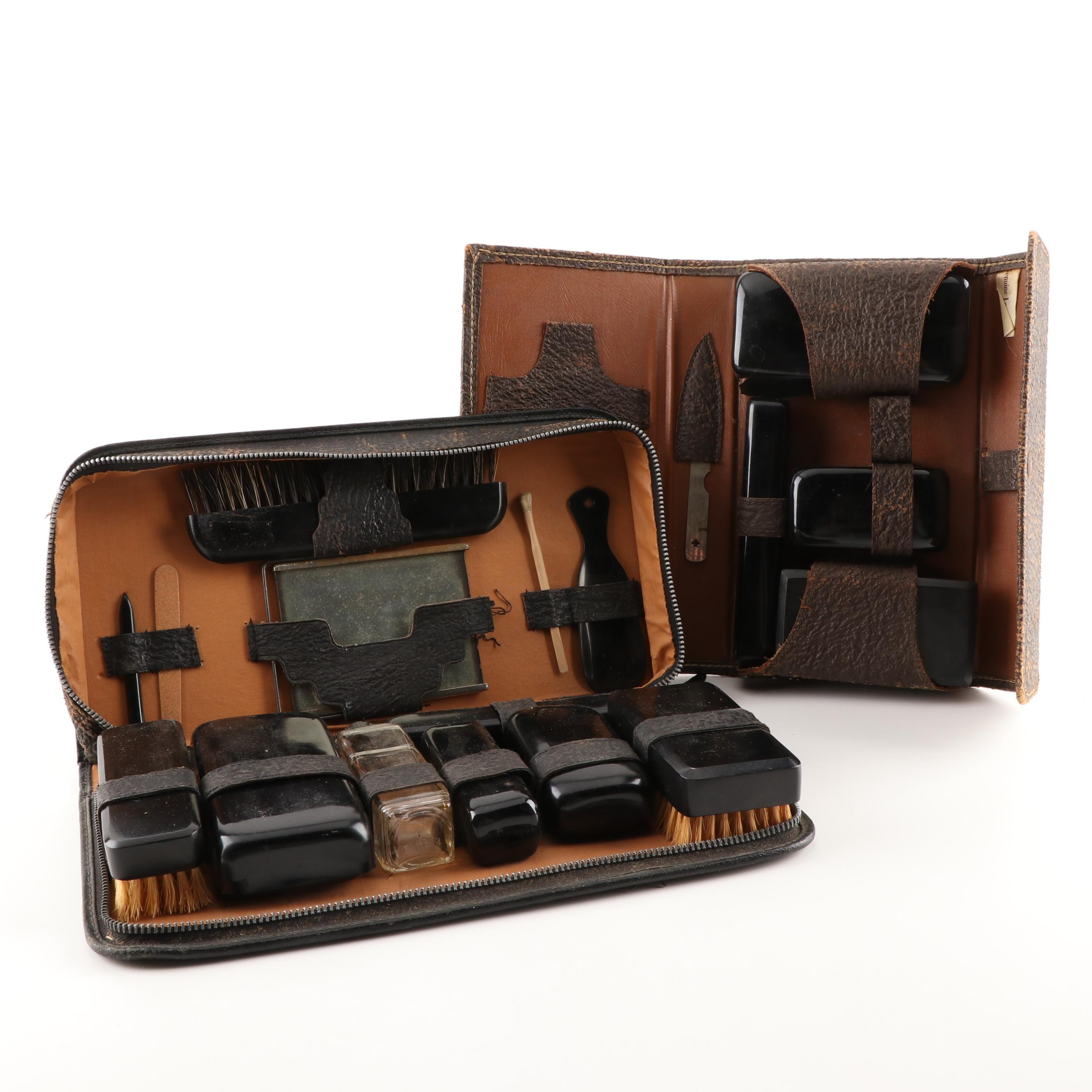 Men's Leather Dopp Kits, Circa 1940