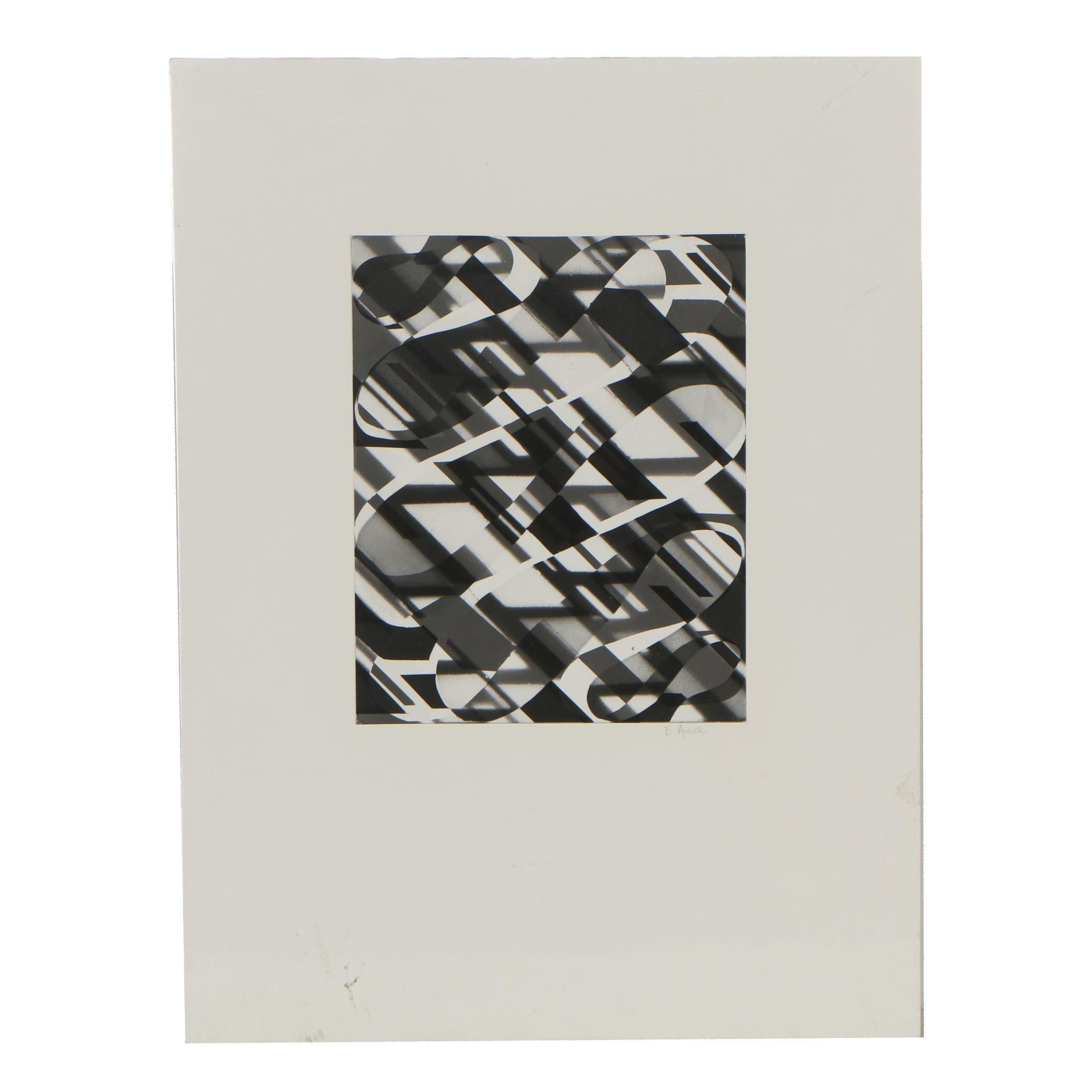 B. Amick Abstract Silver Gelatin Photogram
