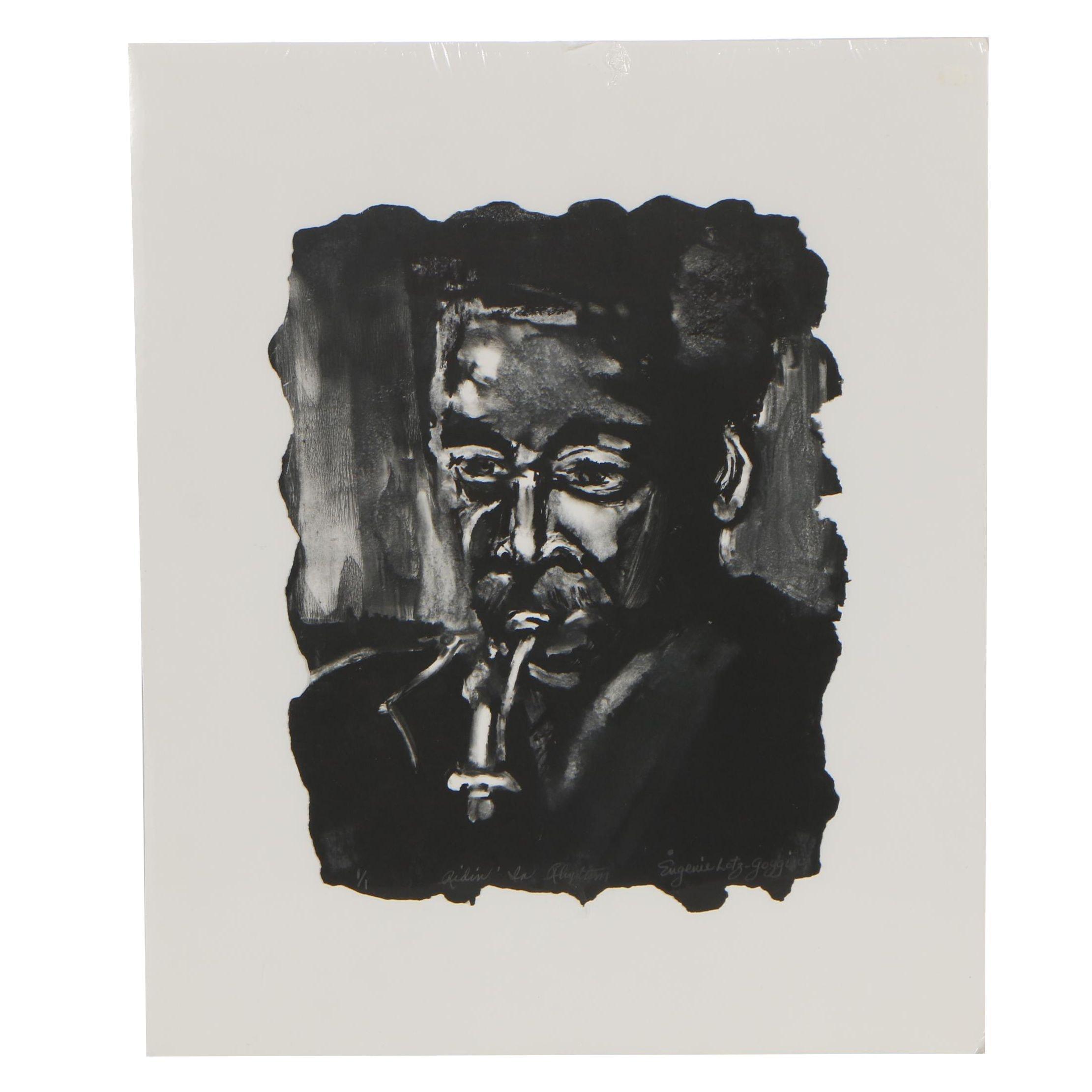 "Eugene Lotz Goggin 2000 Monotype ""Ridin' in Rhythm"""