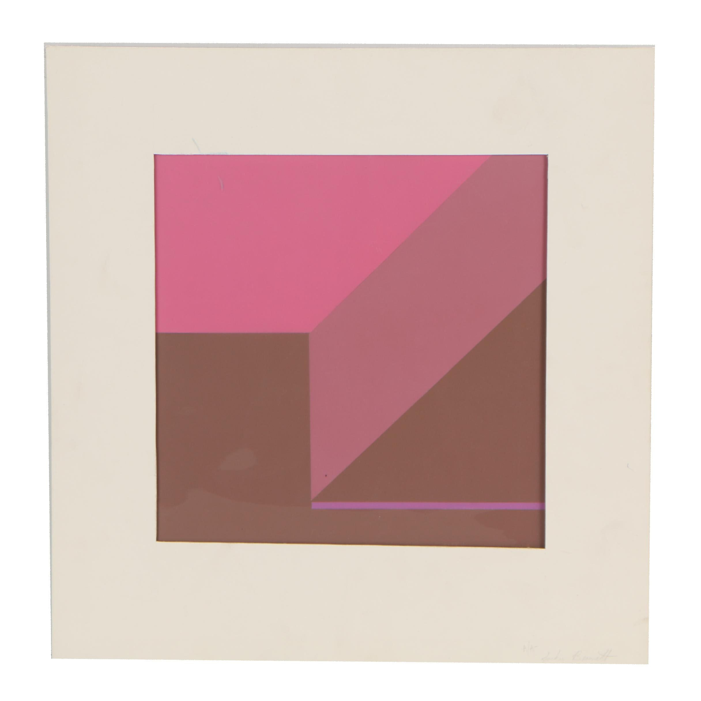 Jackie Bennett Abstract Serigraph