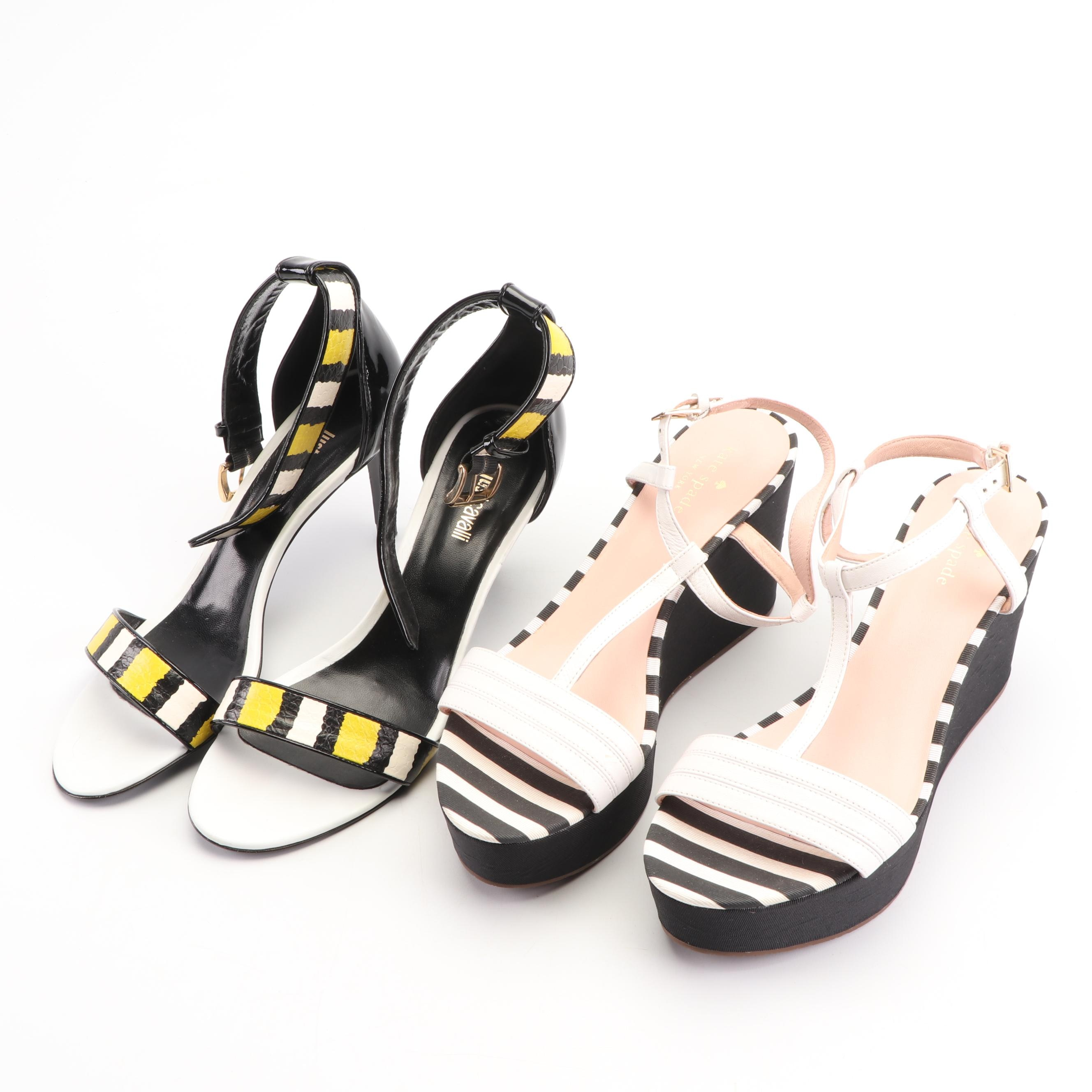 Just Cavalli and Kate Spade New York Leather Ankle Strap Sandals