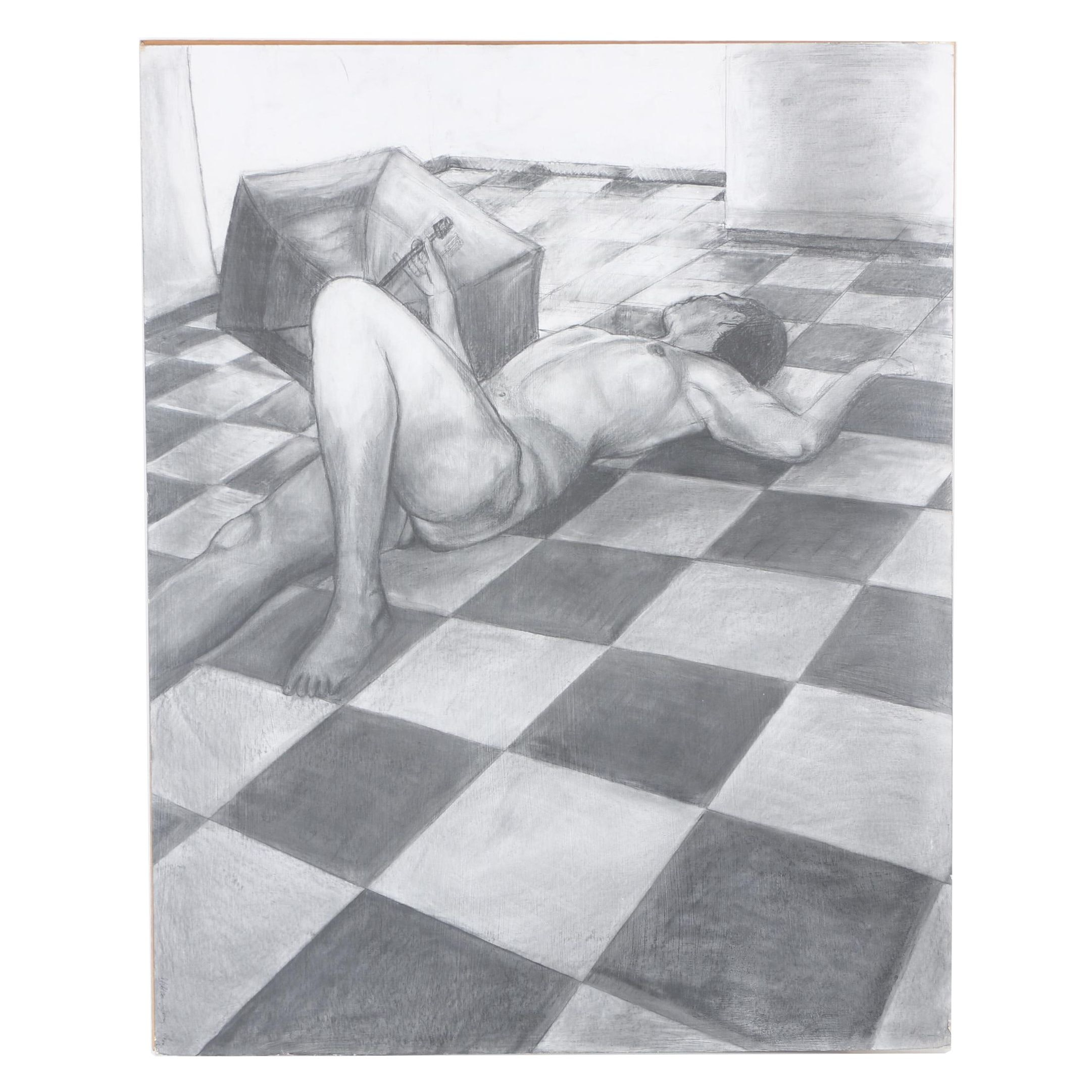 "Chelsea Sprang 2010 Graphite Drawing ""Untitled"""