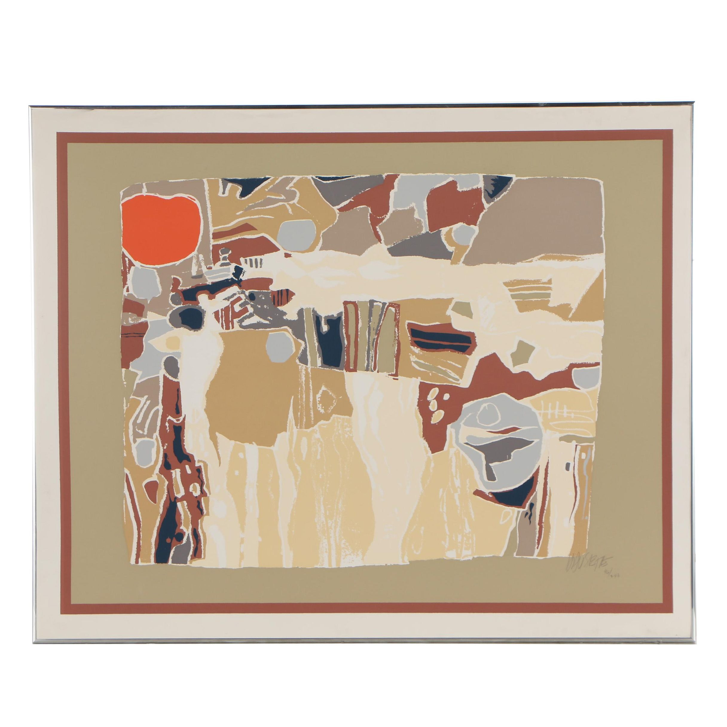 Late 20th Century Abstract Serigraph
