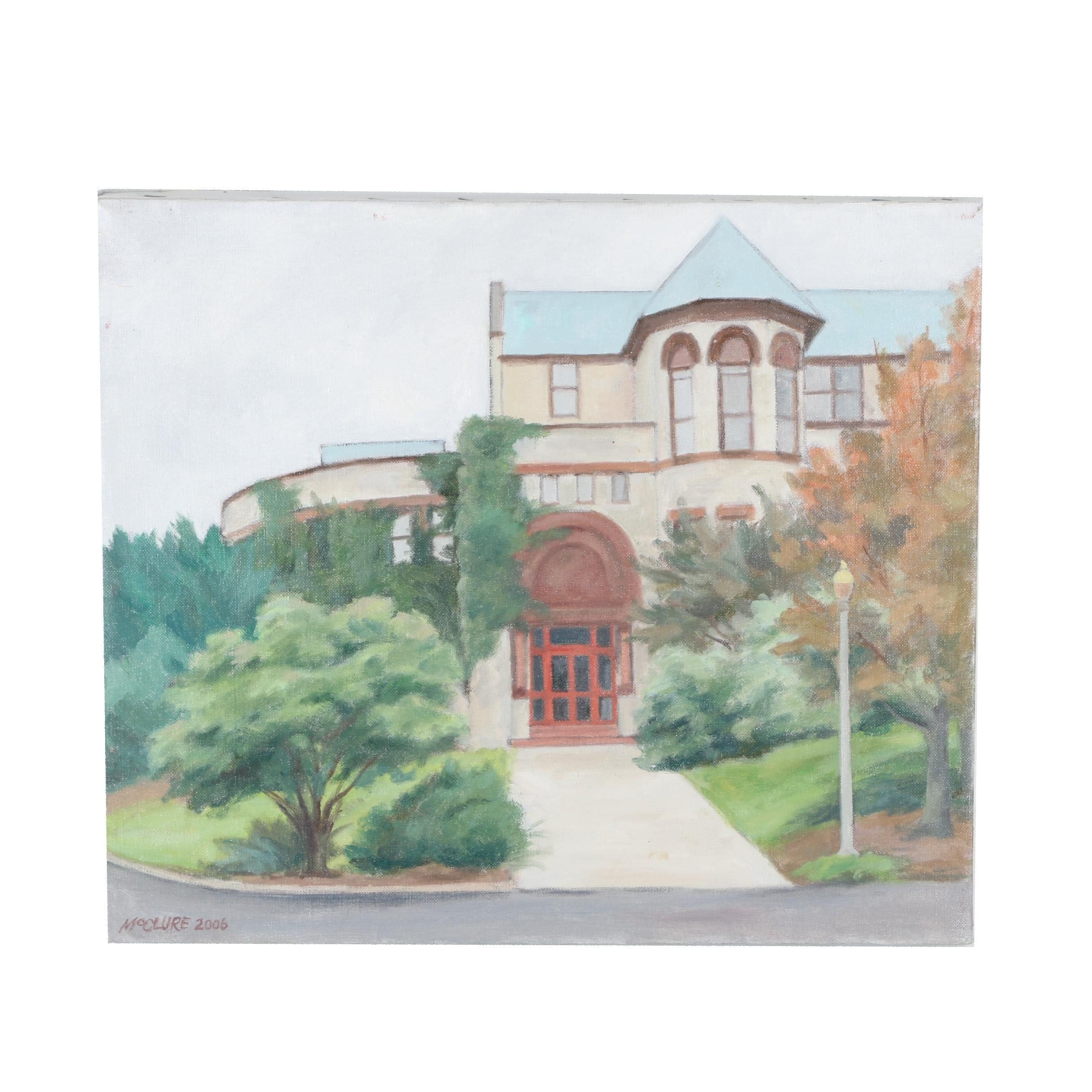 Constance McClure Oil Painting of Cincinnati Art Academy, 2006