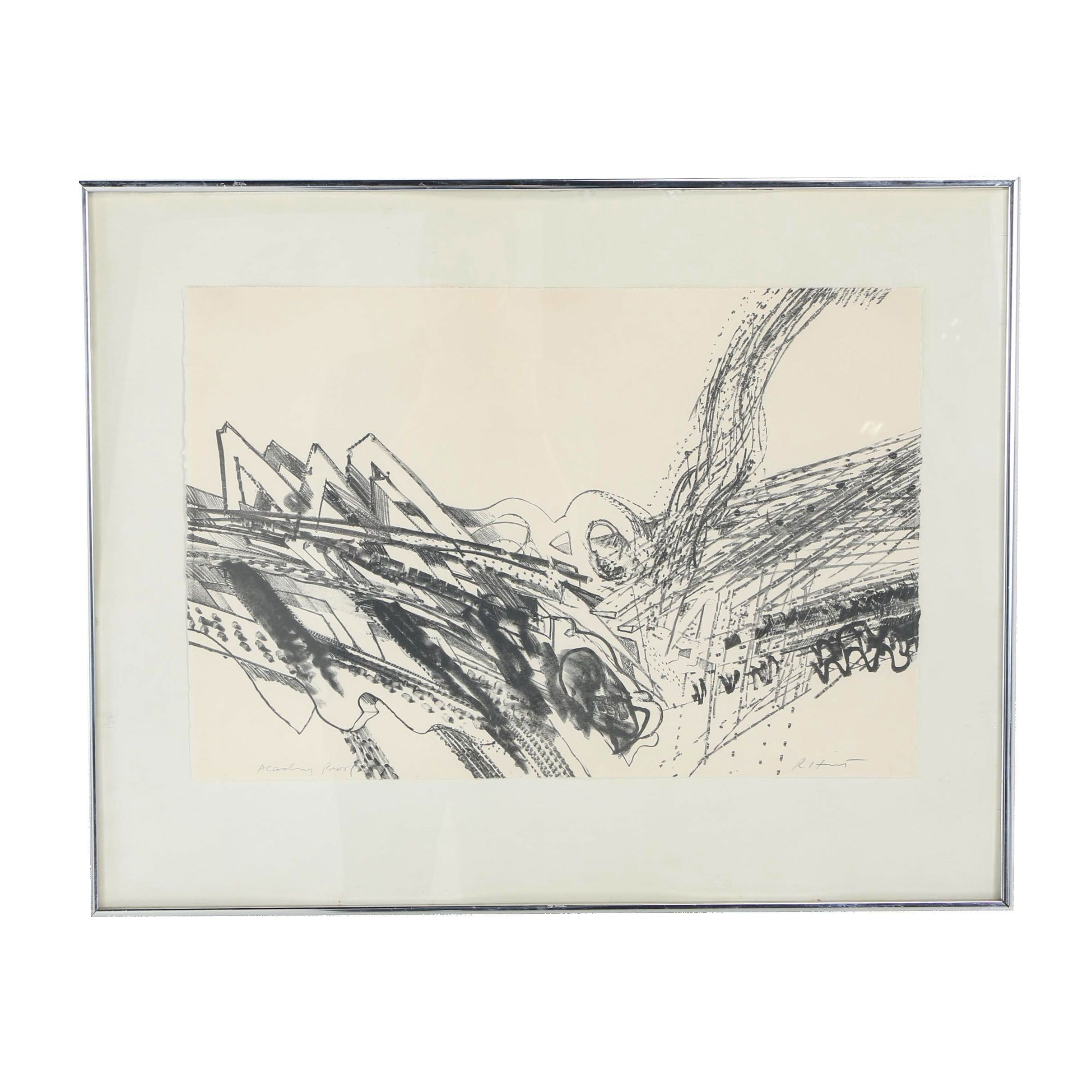 Richard Hunt Abstract Lithograph
